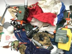 A Collection of Action Man Uniform.Guns.Boots and