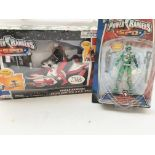 A Power Rangers S.P.D Radio Control Cycle and a Ca