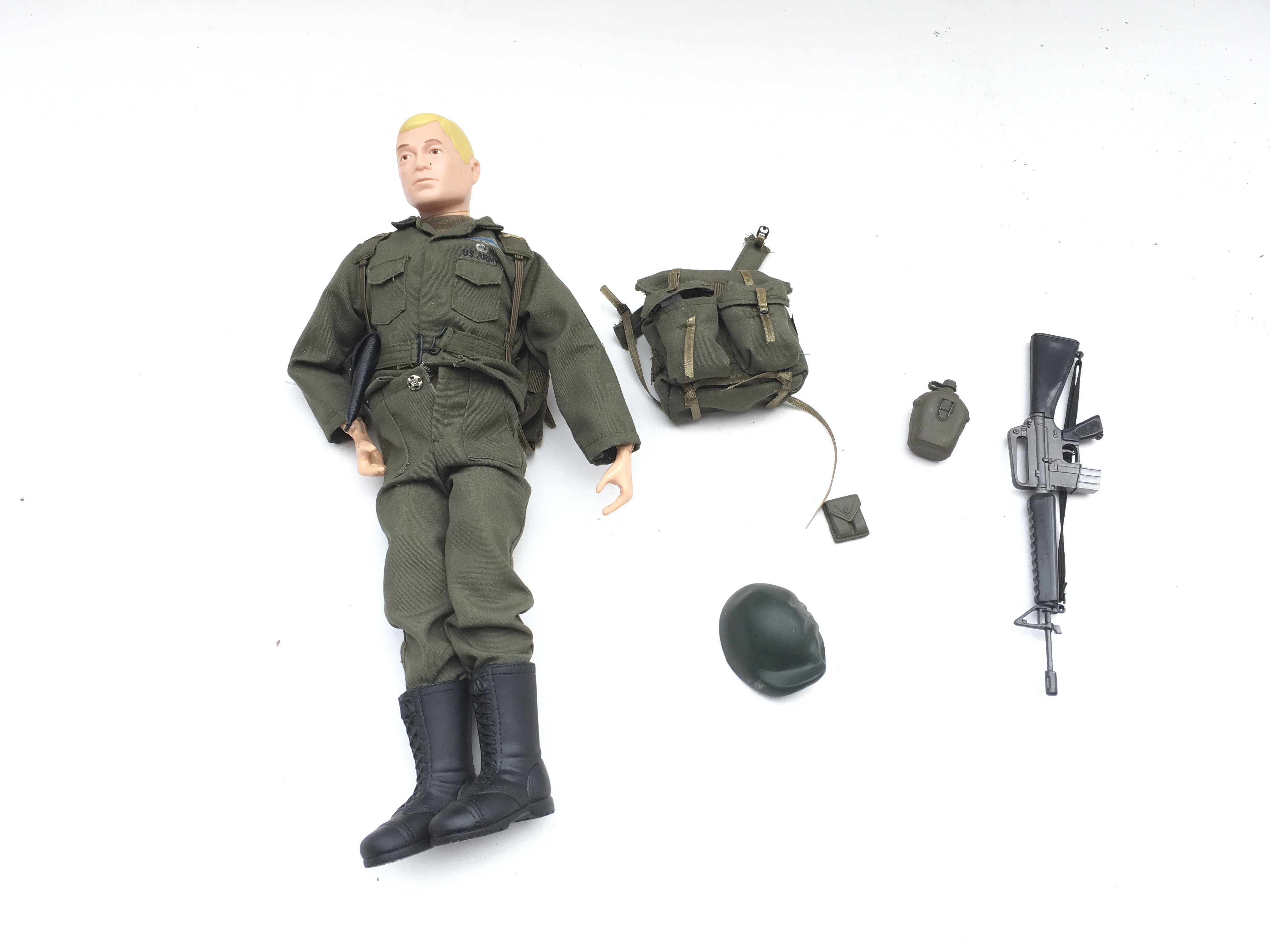 Action figure with accessories.