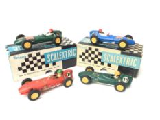 4 X Vintage Scalextric Cars (2 Boxed) including Lo