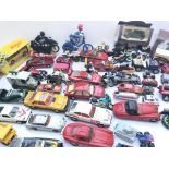 A Box Containing Collection of plastic/ Diecast Ve