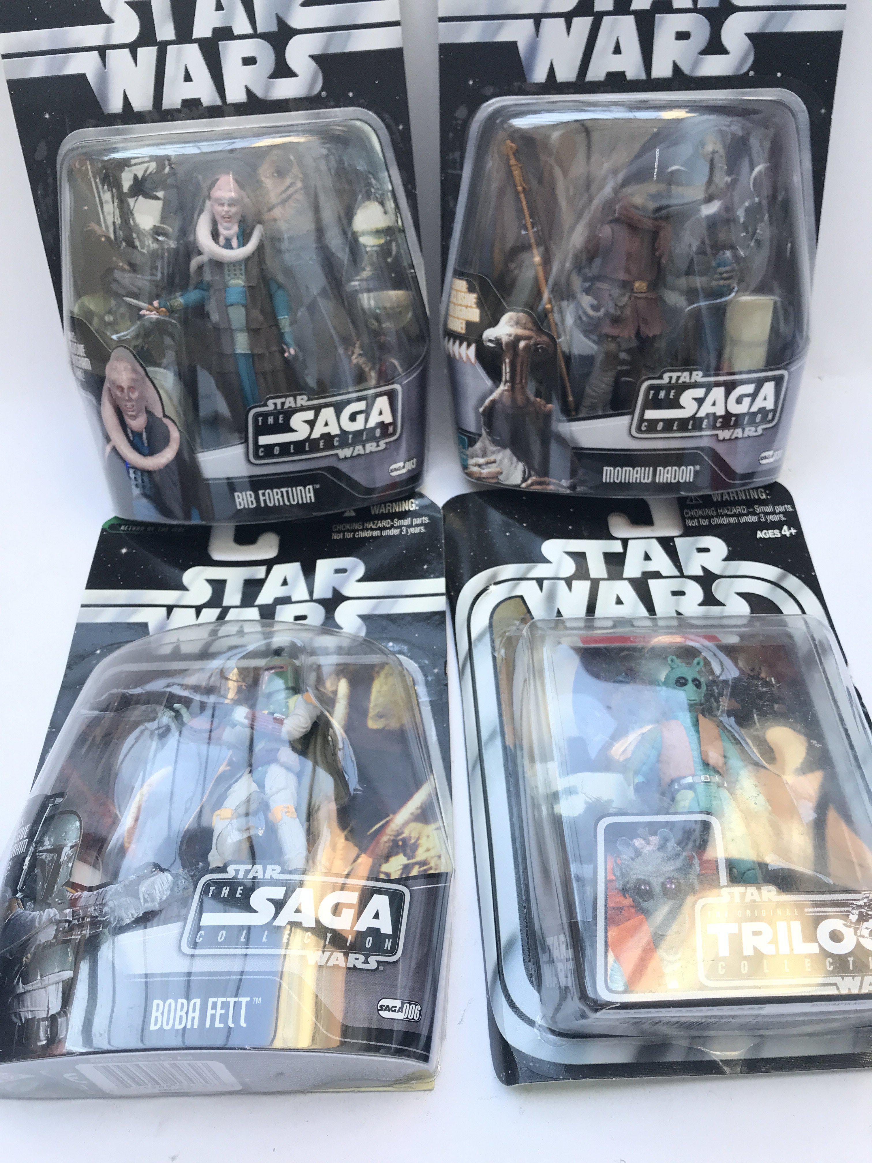 4 X Star Wars Carded Figures 3 from the Saga Colle