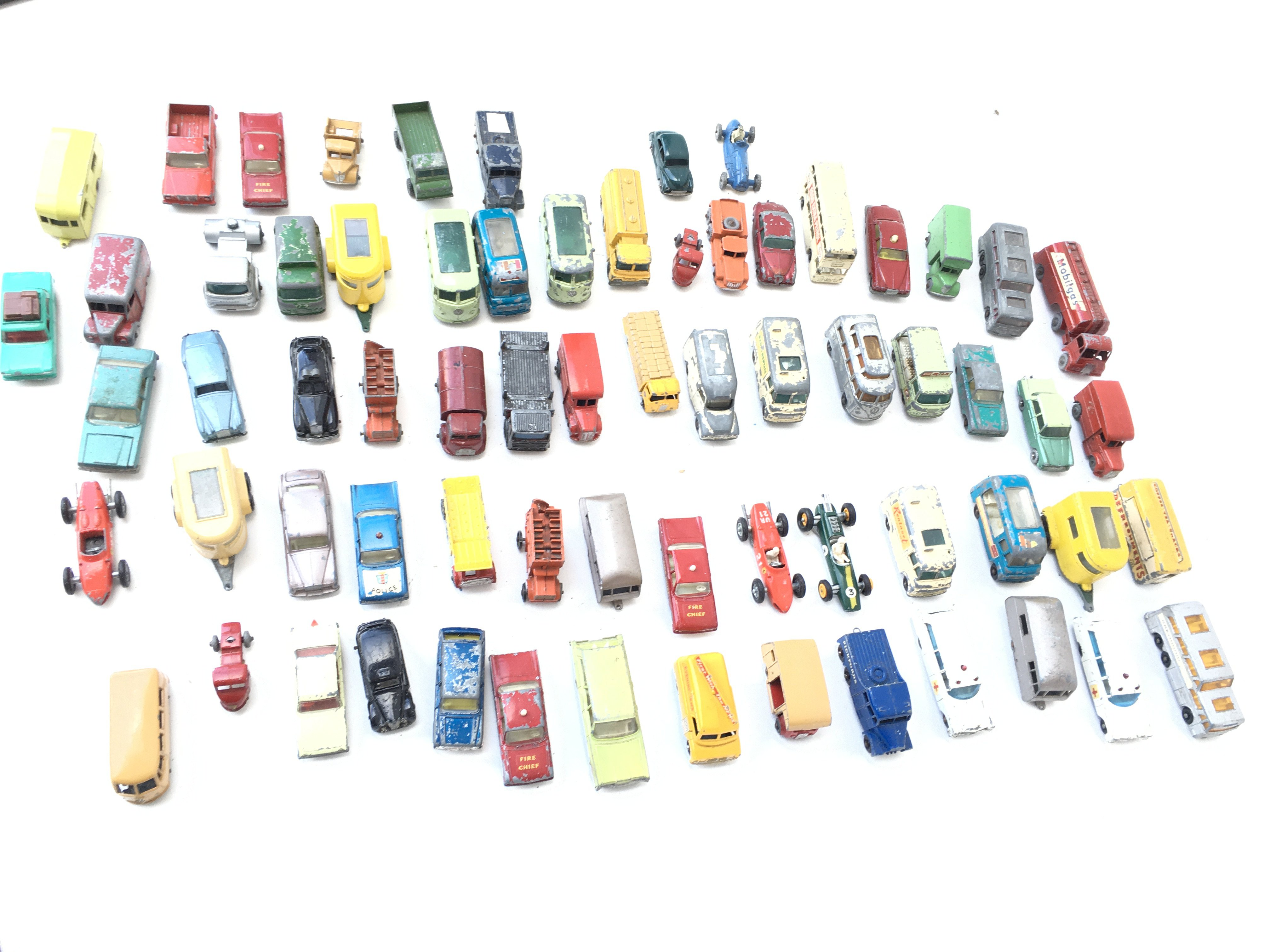 A Collection of Playworn Vehicles including Lesney