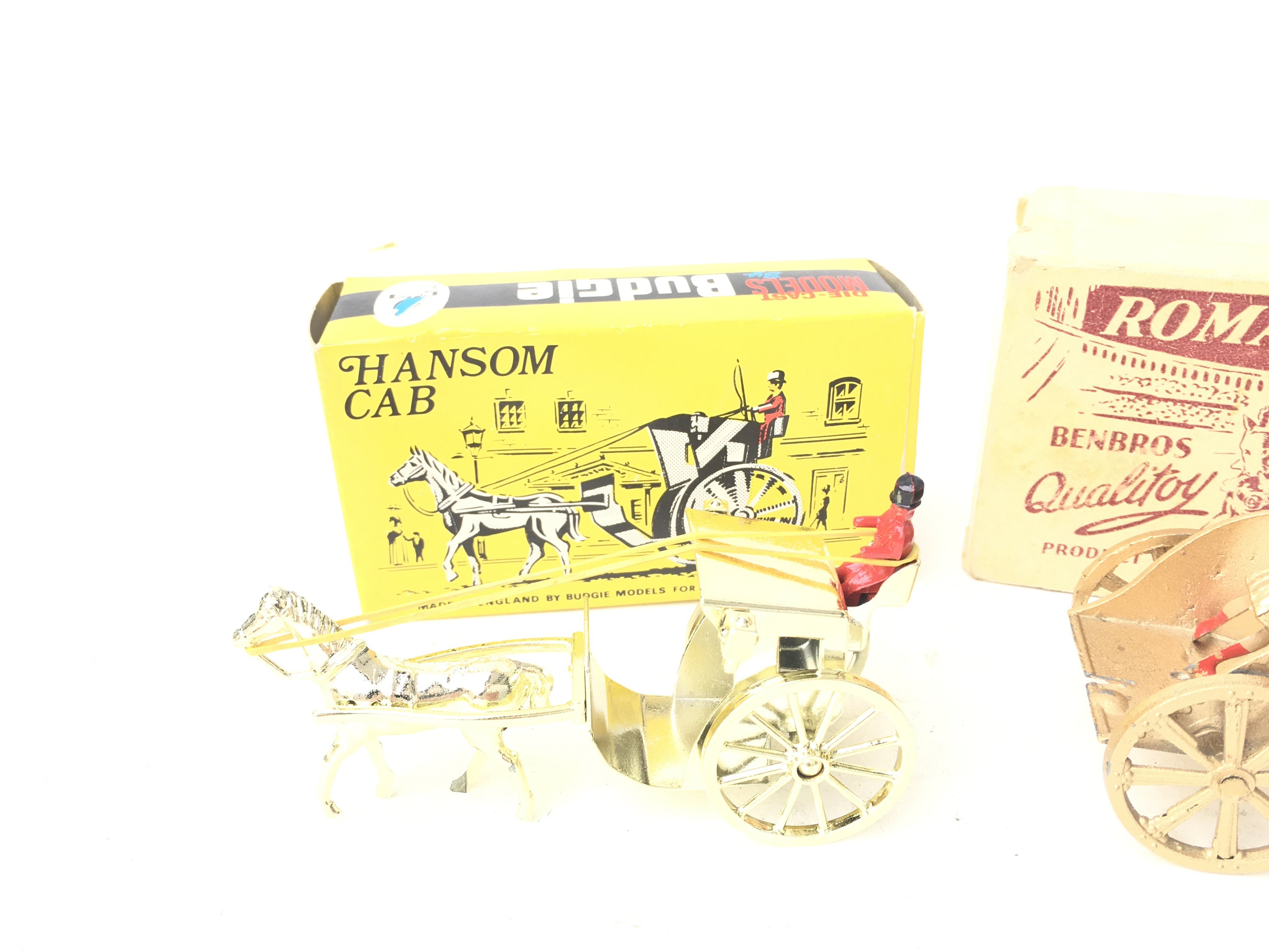A Boxed Budgie Hanson Cab and a BenBros Boxed Roman Chariot. - Image 2 of 3