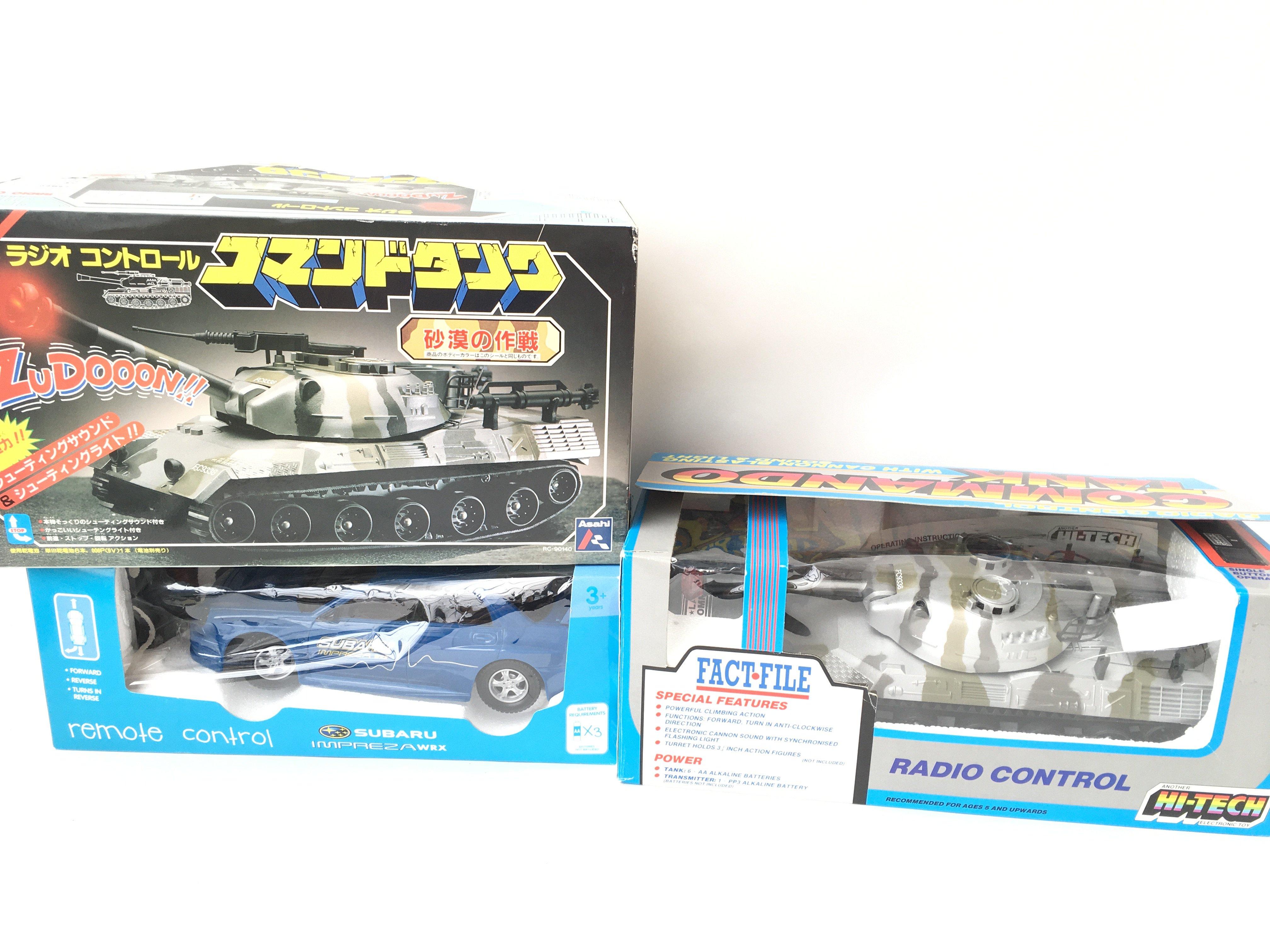 2 X Radio Controlled Command Tanks & A R/C Subaru