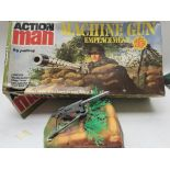 A Vintage Action Man Machine Gun Emplacement. Boxe