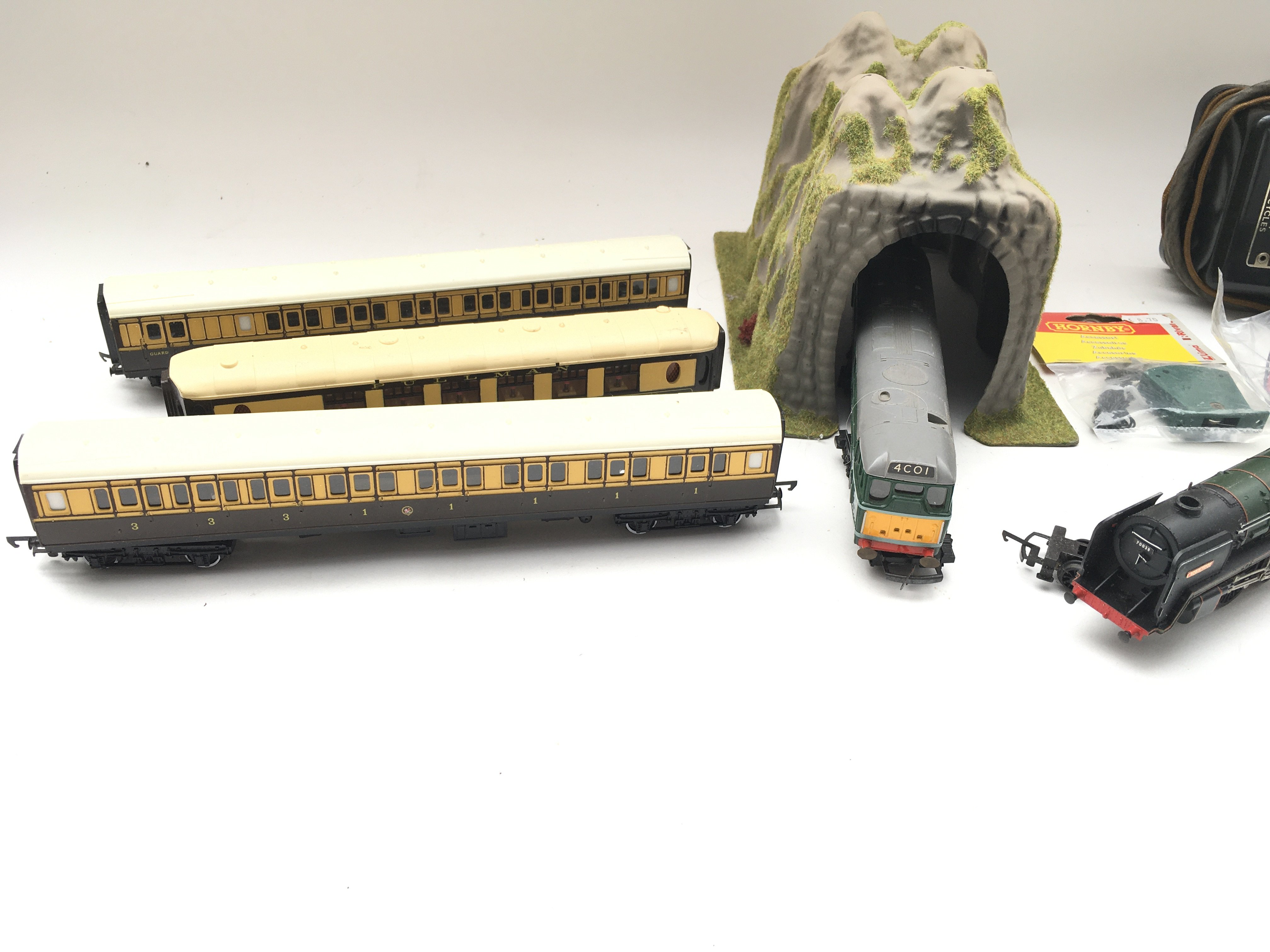 Collection of trains - coaches - controller - colour light signal and switch. - Image 2 of 5