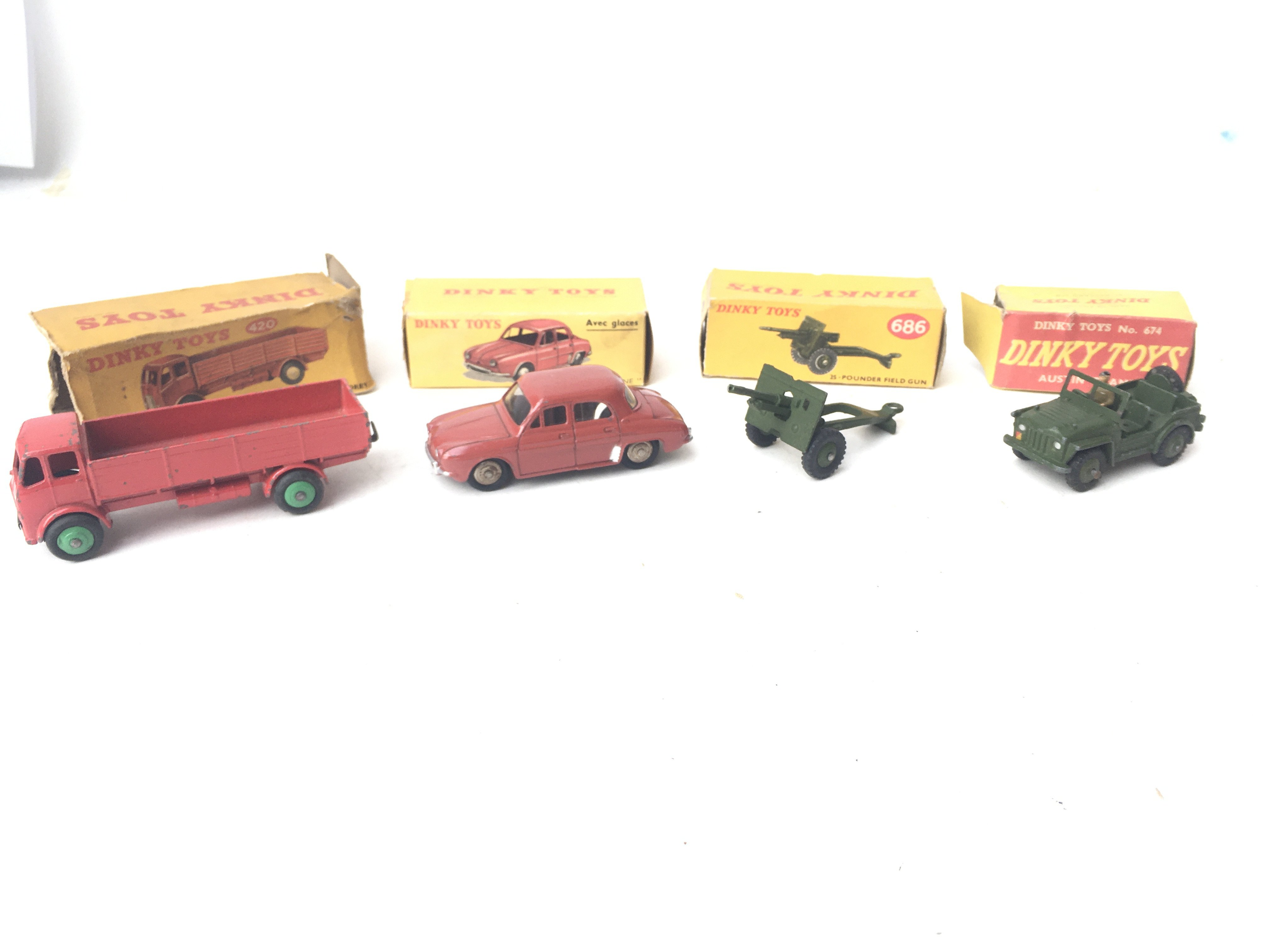 4 X Boxed Dinky Toys including Forward Control Lor