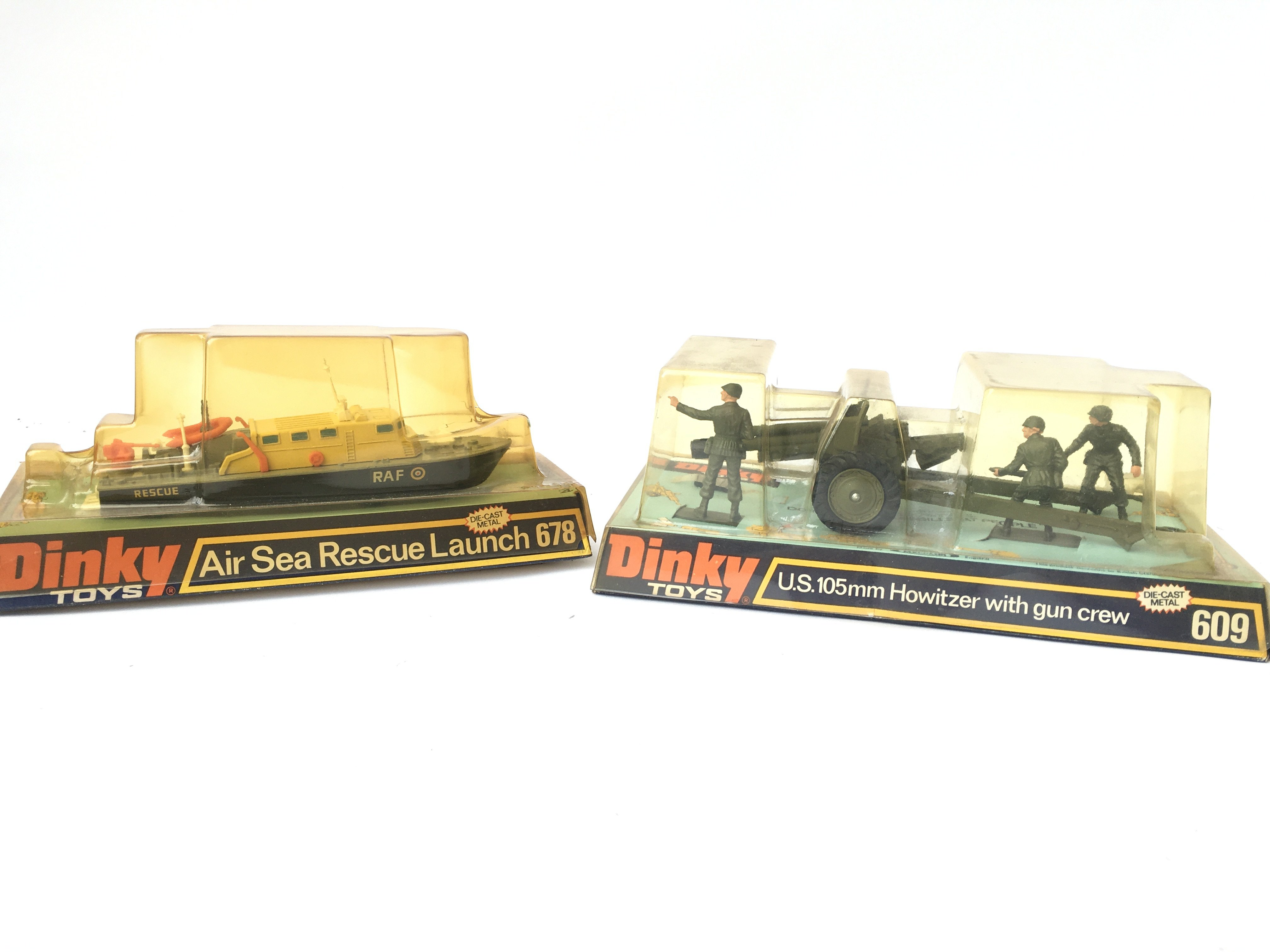 2 X Boxed Dinky Air Sea Rescue Launch #678 and a U