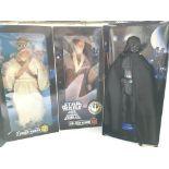 "3 X 1996 Star Wars Collector series 12"" Figures Bo"