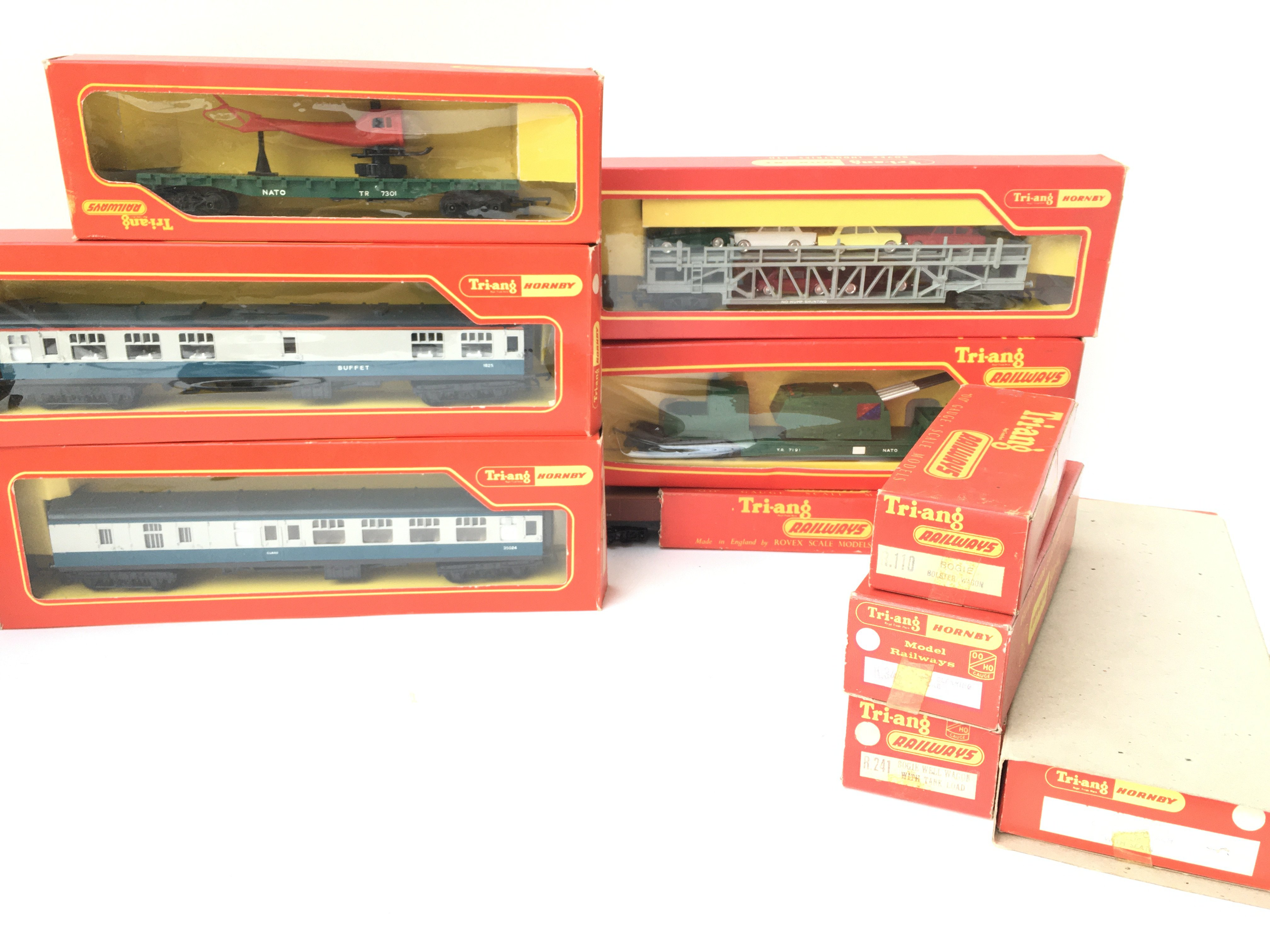 A Box Containing a Collection of Tri-ang Hornby Co