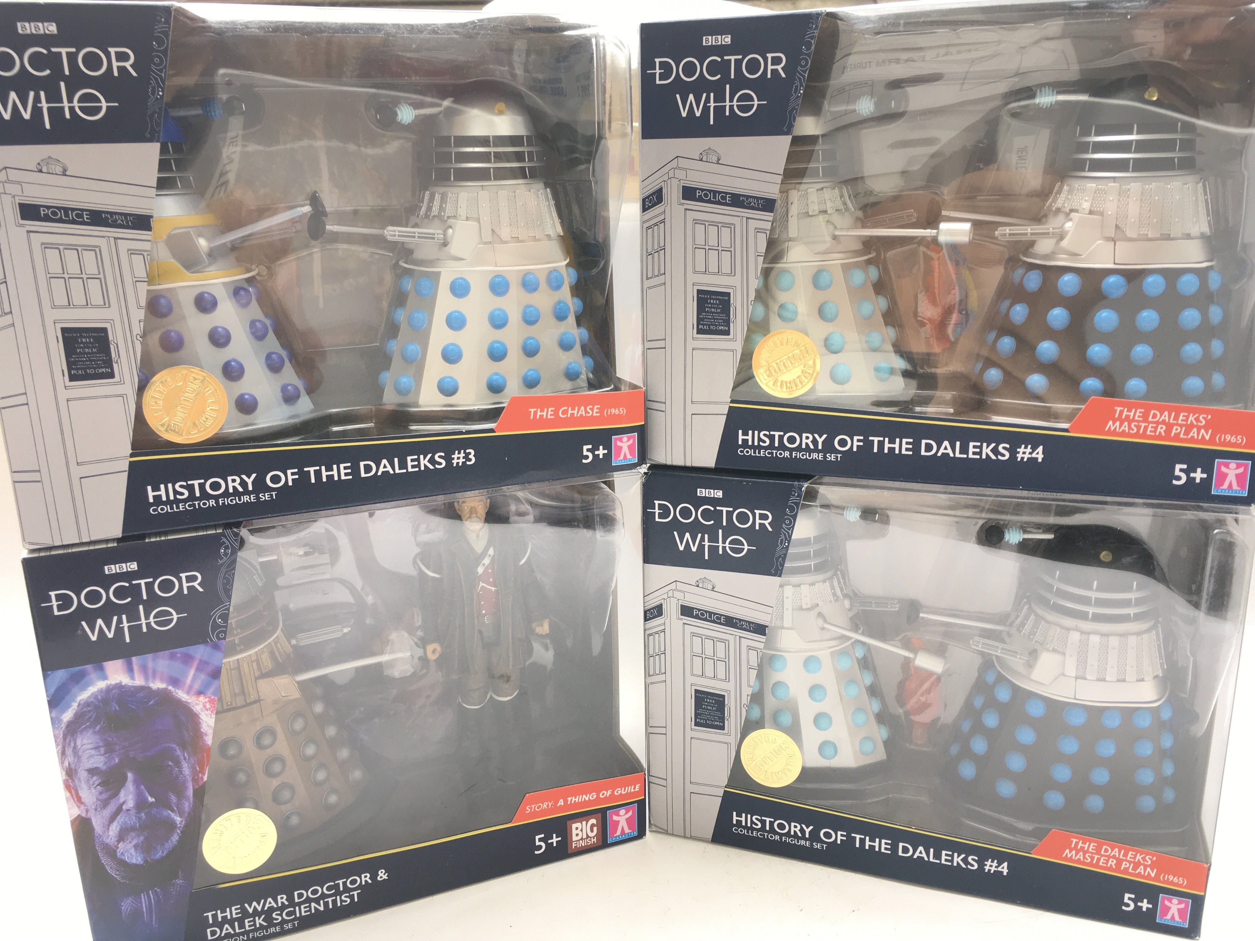 4 X Limited Edition Doctor Who Character Dalek Col