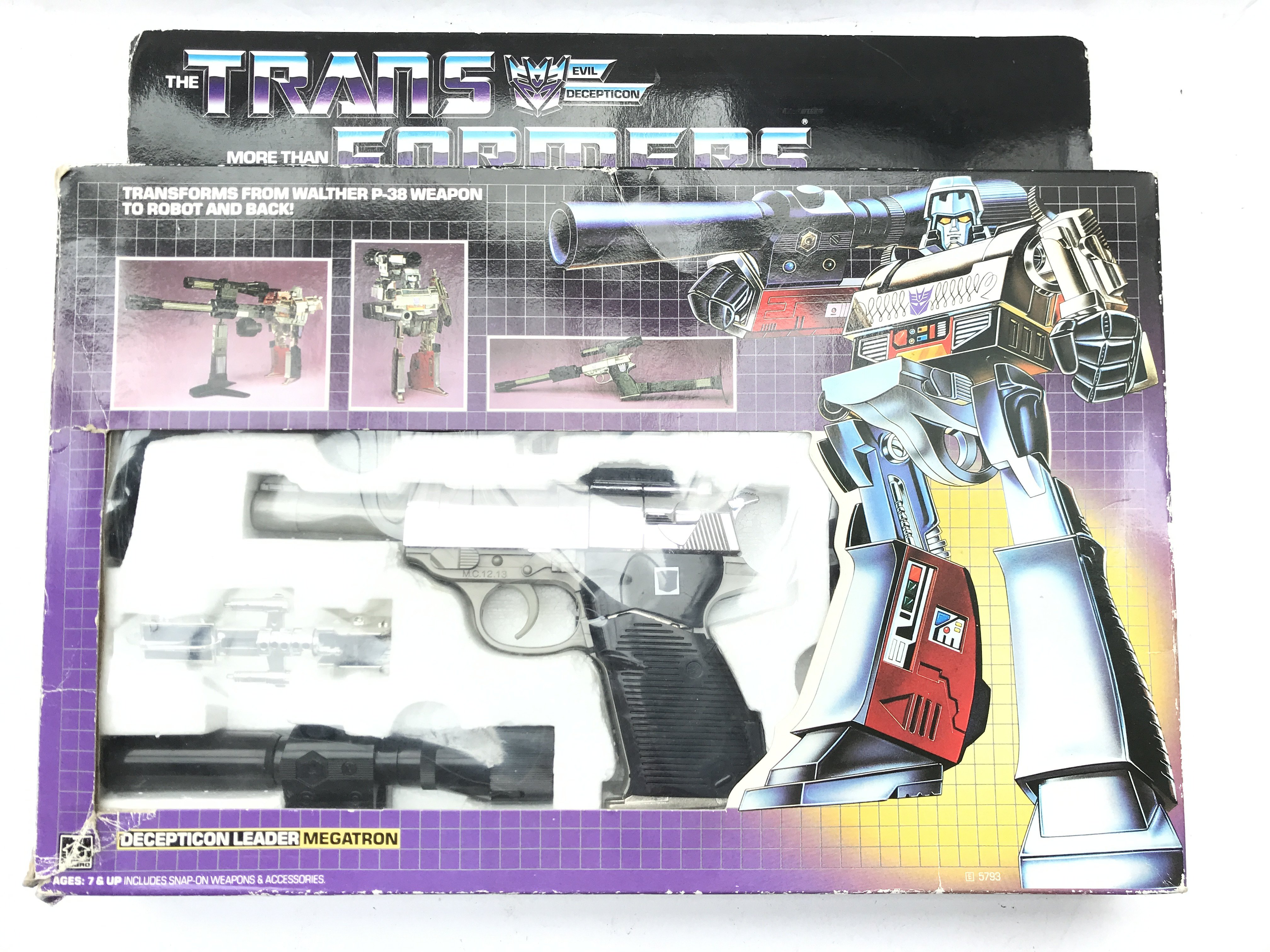 A Boxed Vintage Transformers Megatron. Complete - Image 3 of 3