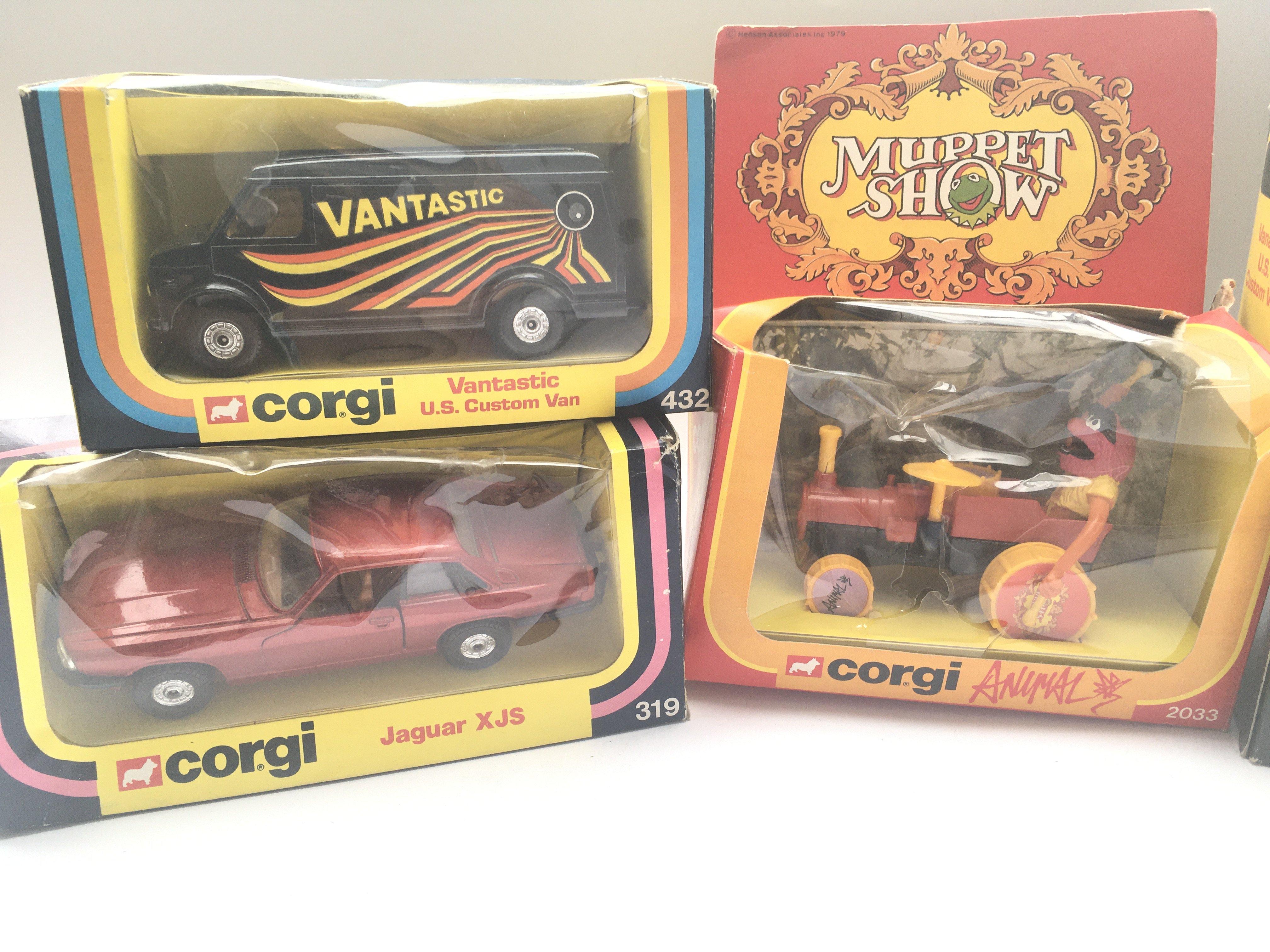 5 boxed Corgi vehicles including Animal #2033 Jagu - Image 2 of 3