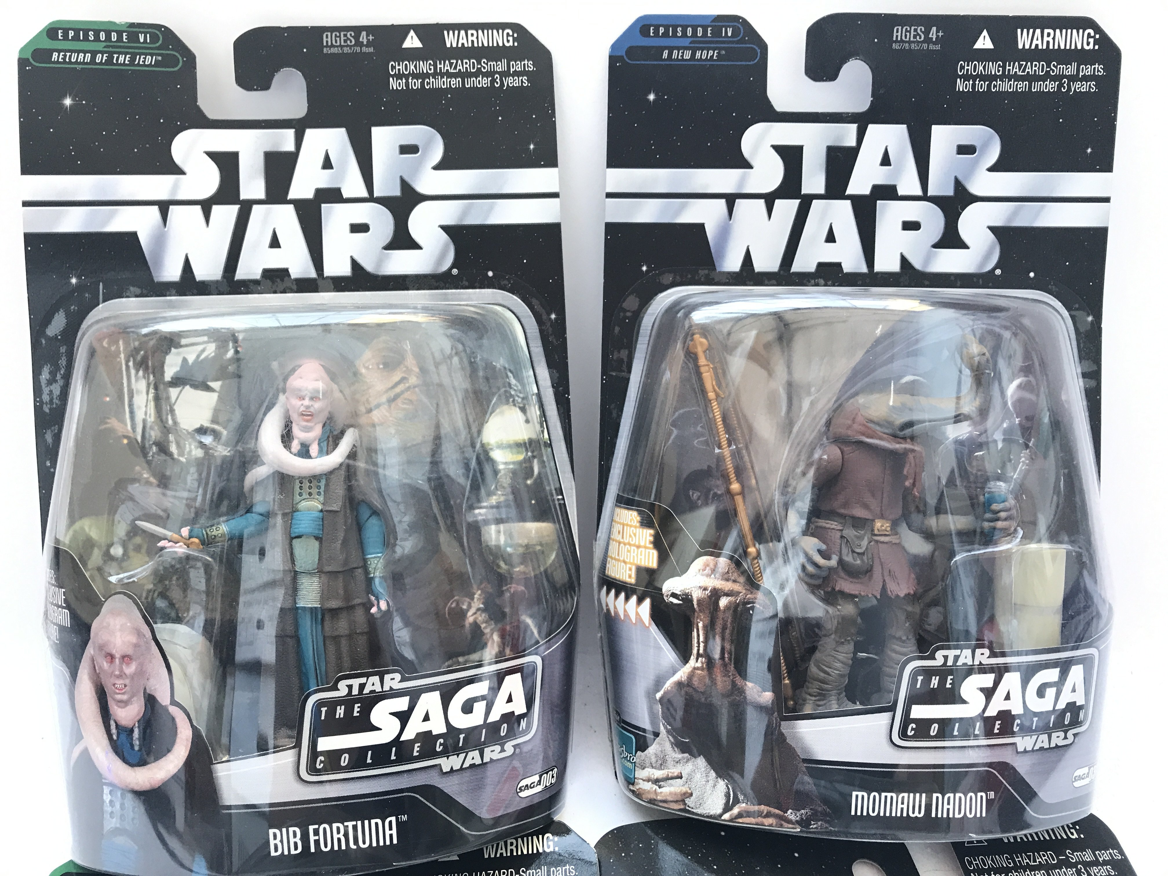 4 X Star Wars Carded Figures 3 from the Saga Colle - Image 2 of 3
