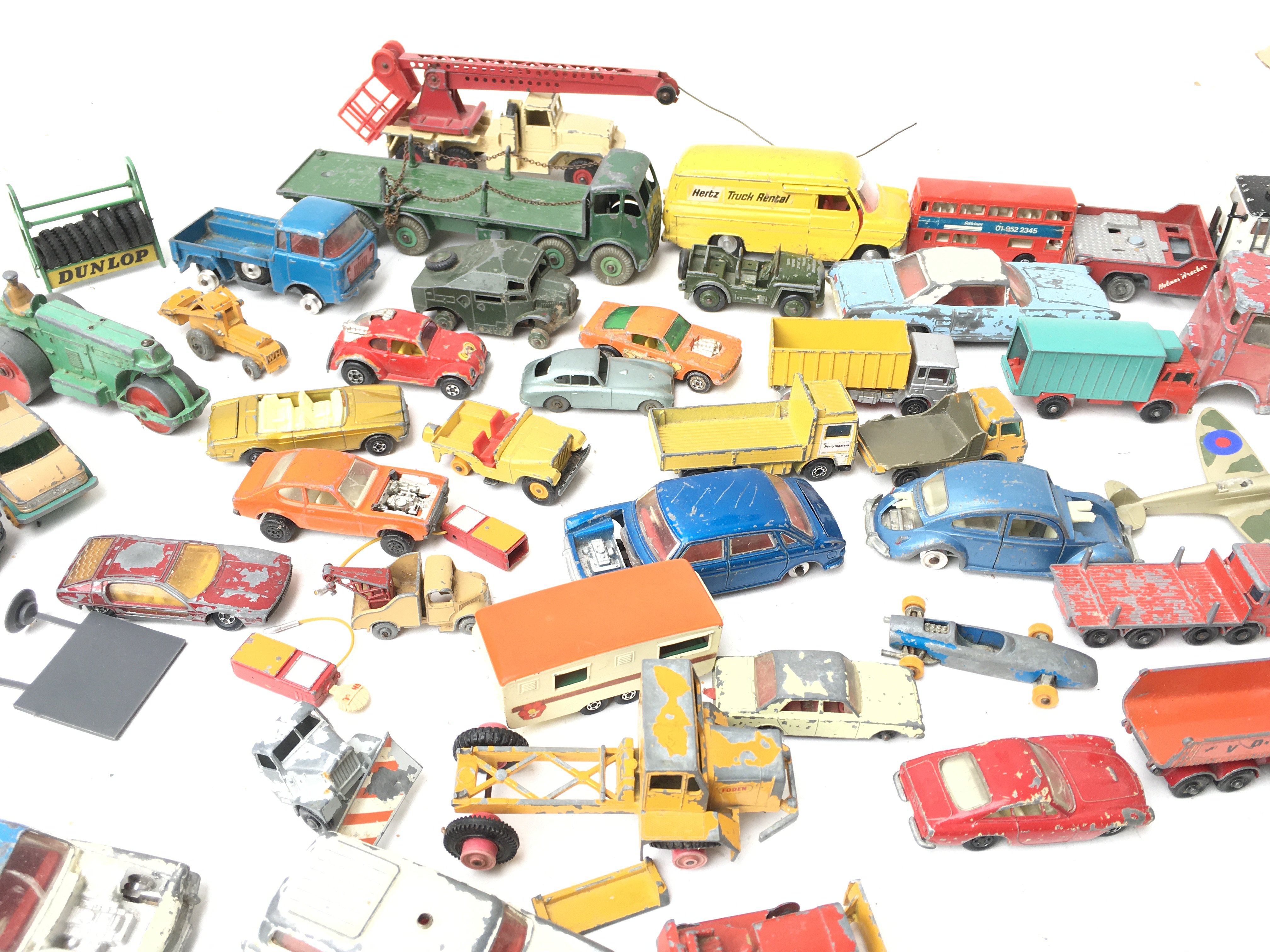 A Box Containing A Collection of Playworn Vehicles - Image 3 of 3