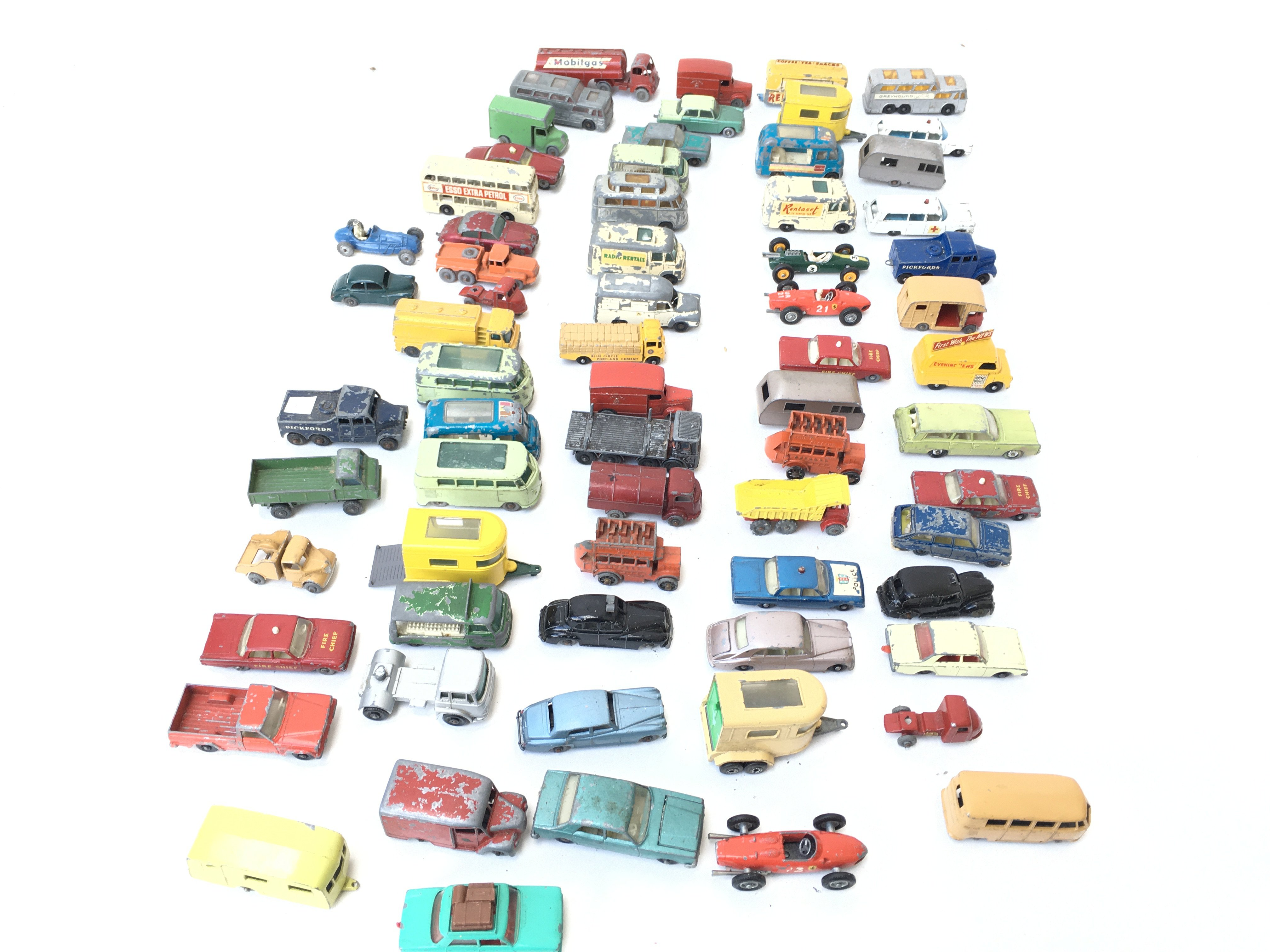 A Collection of Playworn Vehicles including Lesney - Image 3 of 4
