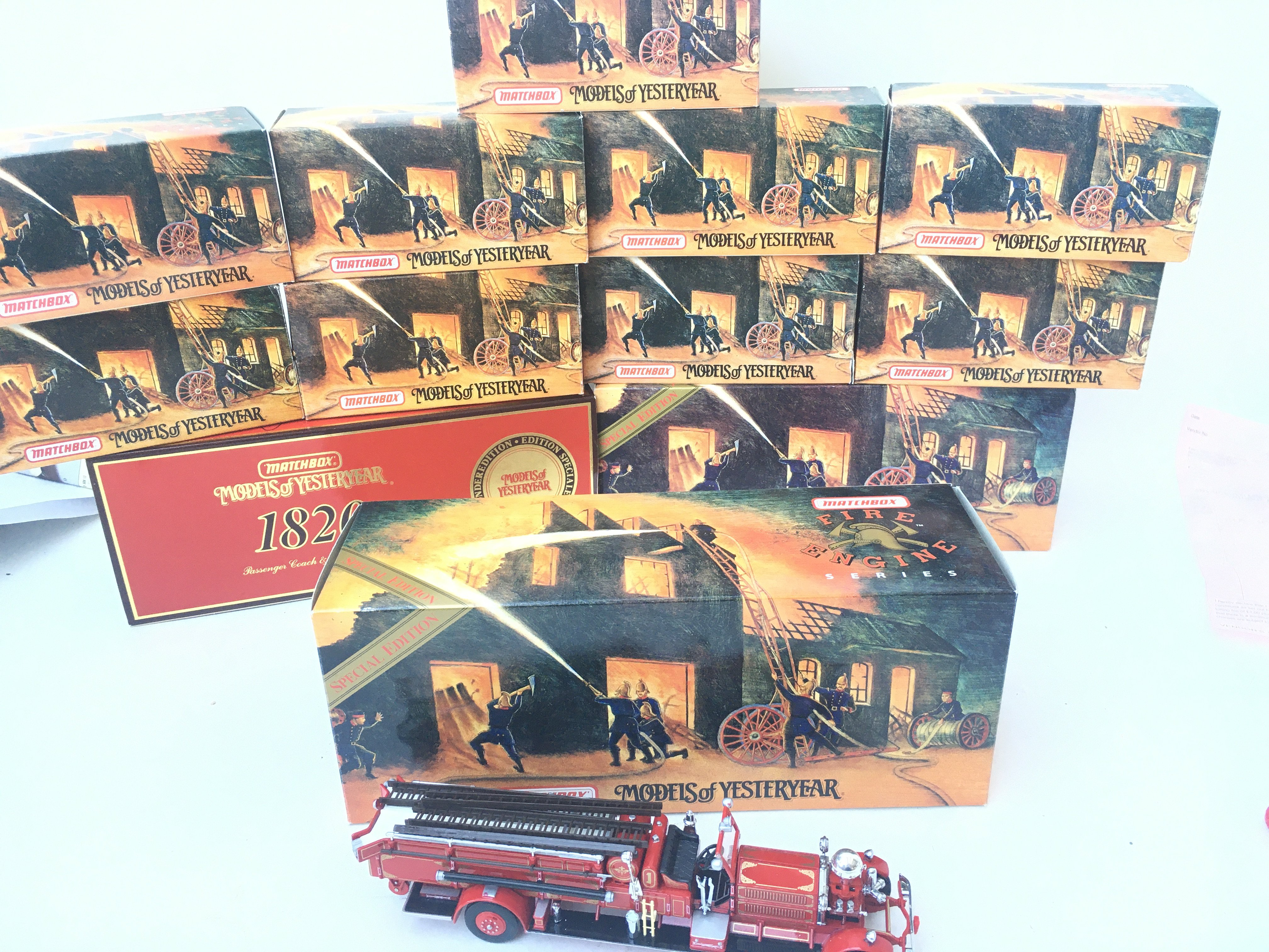 A Collection of Matchbox Models of Yesteryear mostly the Fire Engine Series. All Boxed.