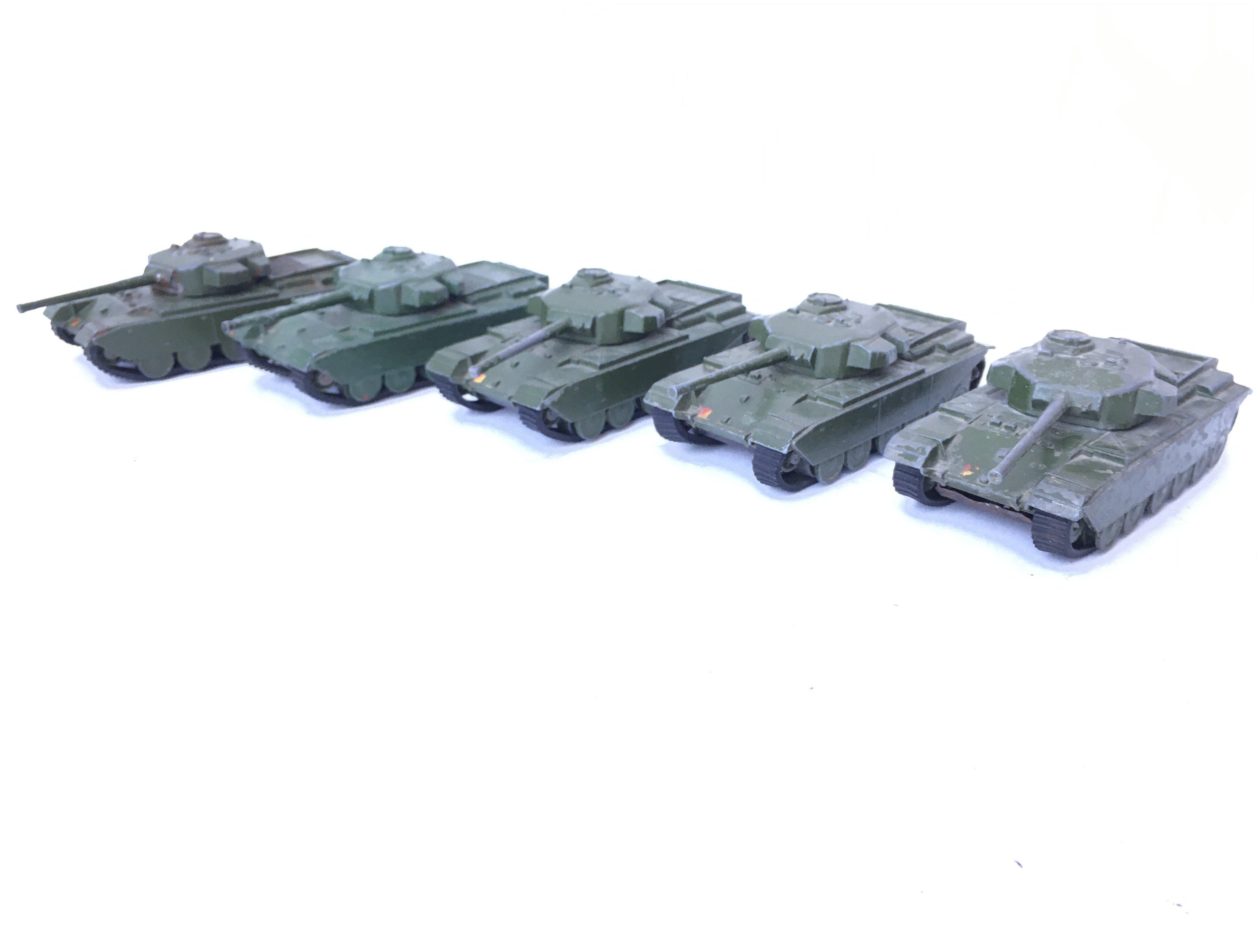 5 X Dinky Supertoys Centurion Tanks. #651.(1 re-pa - Image 2 of 4