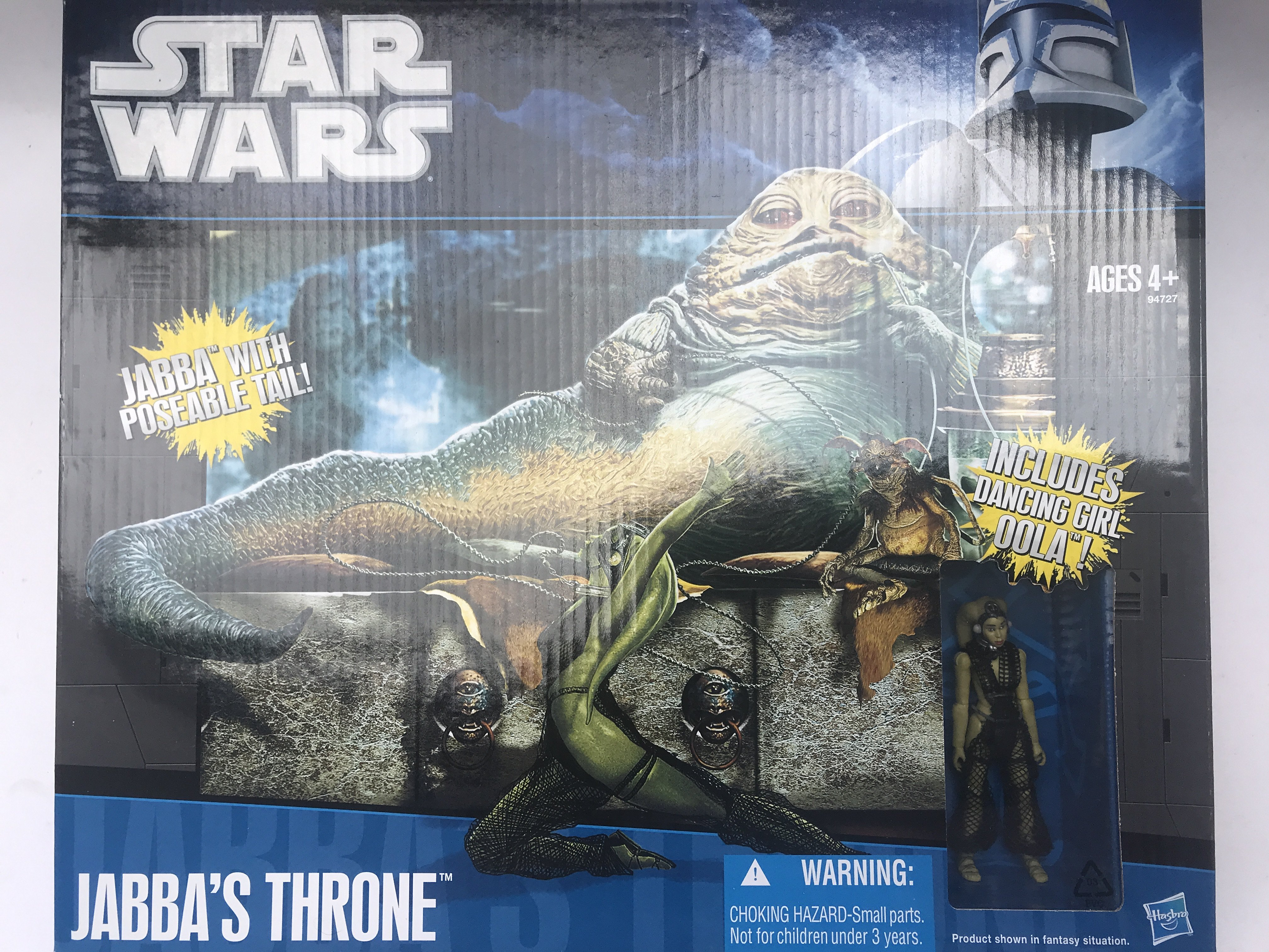 A Boxed Star Wars Jabbas Throne including Dancing