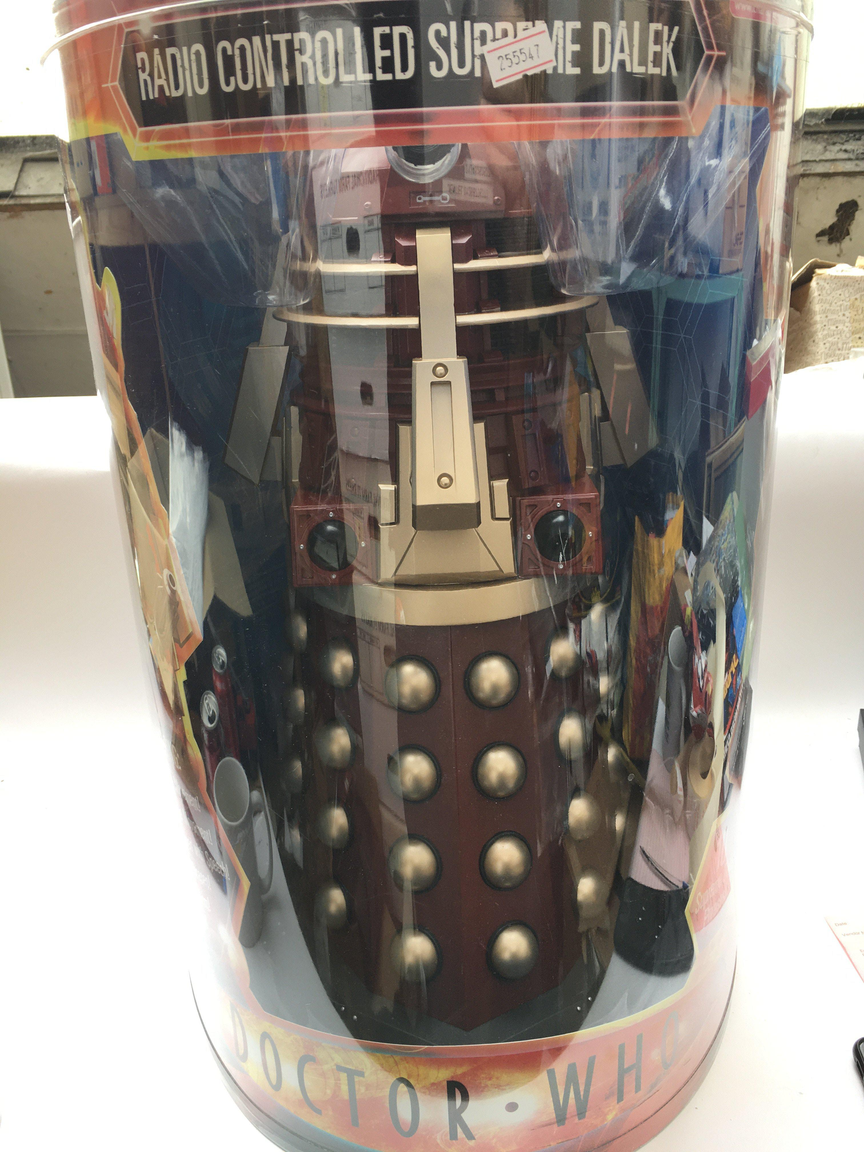"""A 18"""" Radio Controlled Supreme Dalek by Character."""