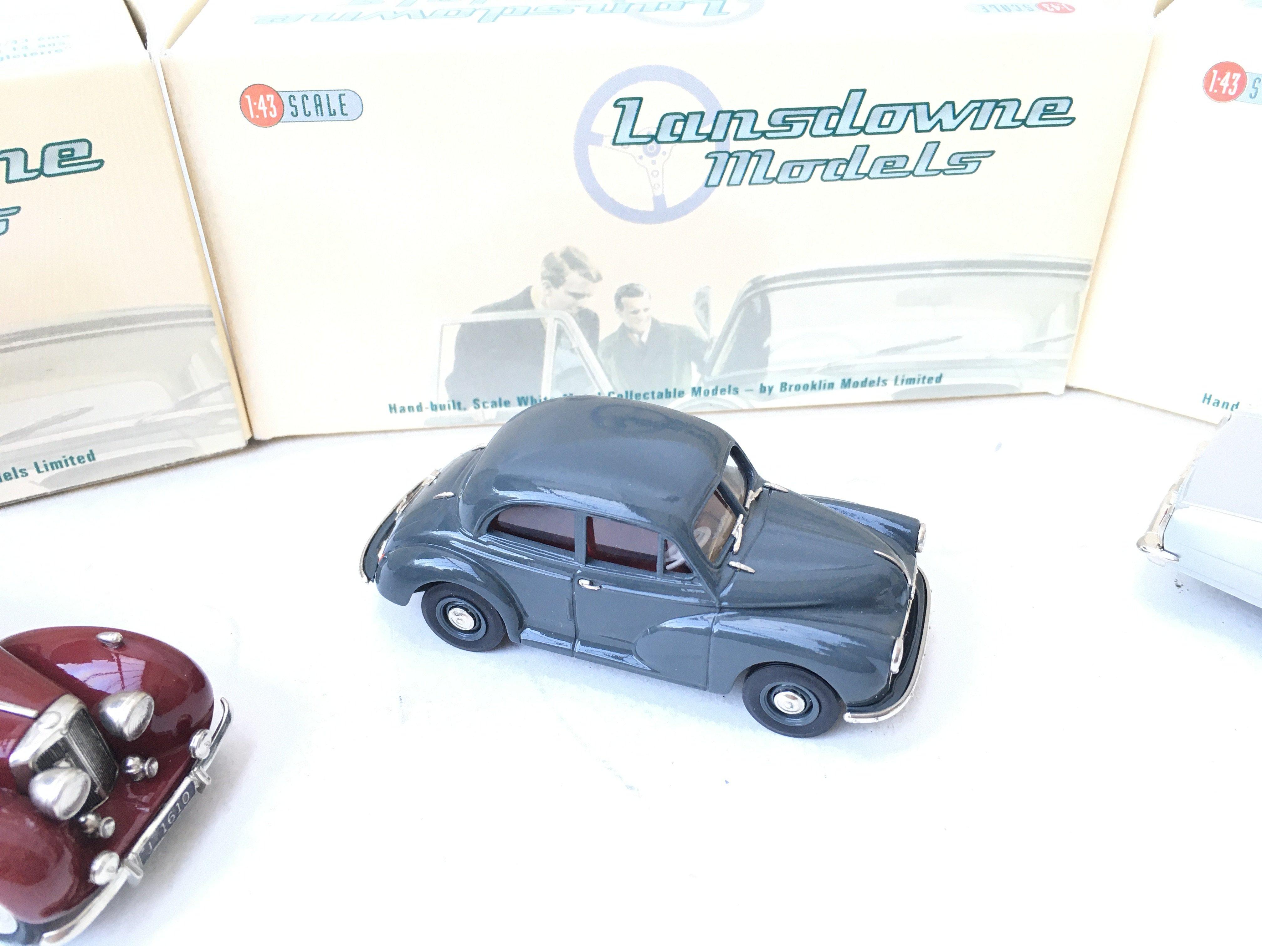 3 X Lansdowne Models including LDM 36 1952 Morris Minor Series II. LDM 37 1949 Triumph 2000 Roadster - Image 3 of 4