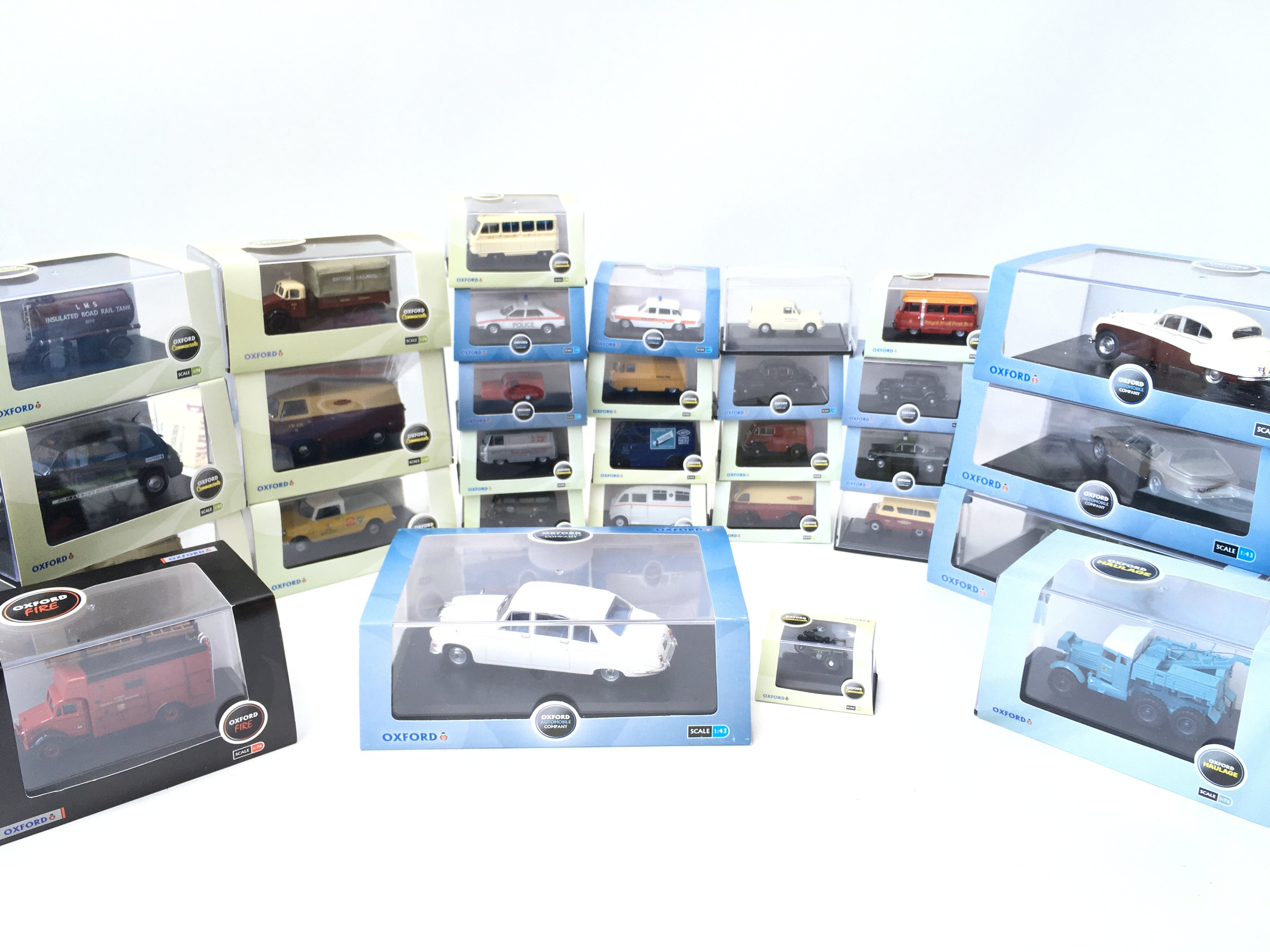 A Collection of Oxford Die-cast all boxed including Fire. haulage. automobile etc.