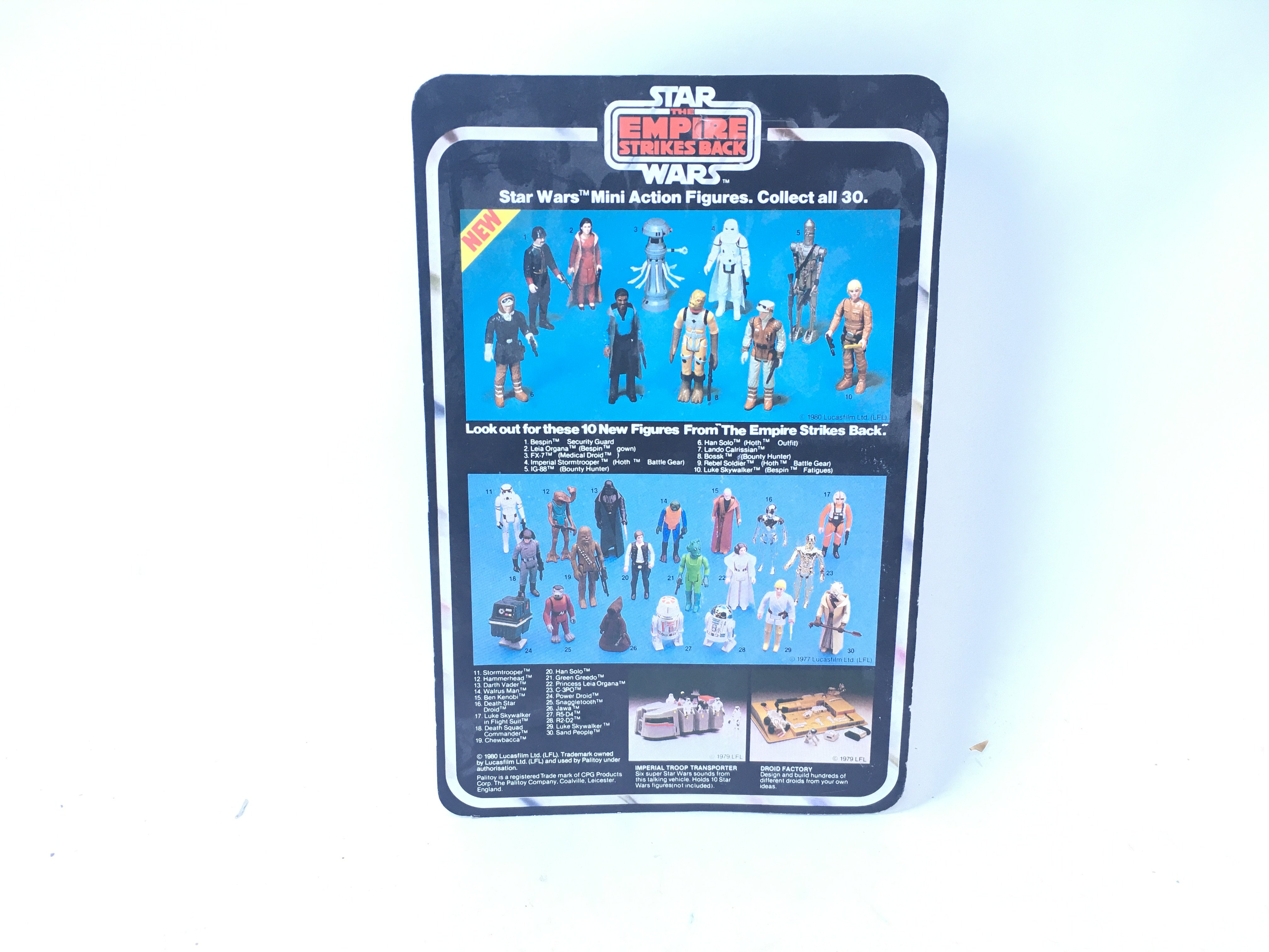 A Vintage Star Wars Empire Stokes Back Carded Han Solo (Hoth) carded. - Image 2 of 2