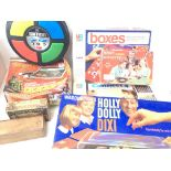 A Collection of Board games and electronic Games including Granstand 3600. Holly Dolly.Battleships
