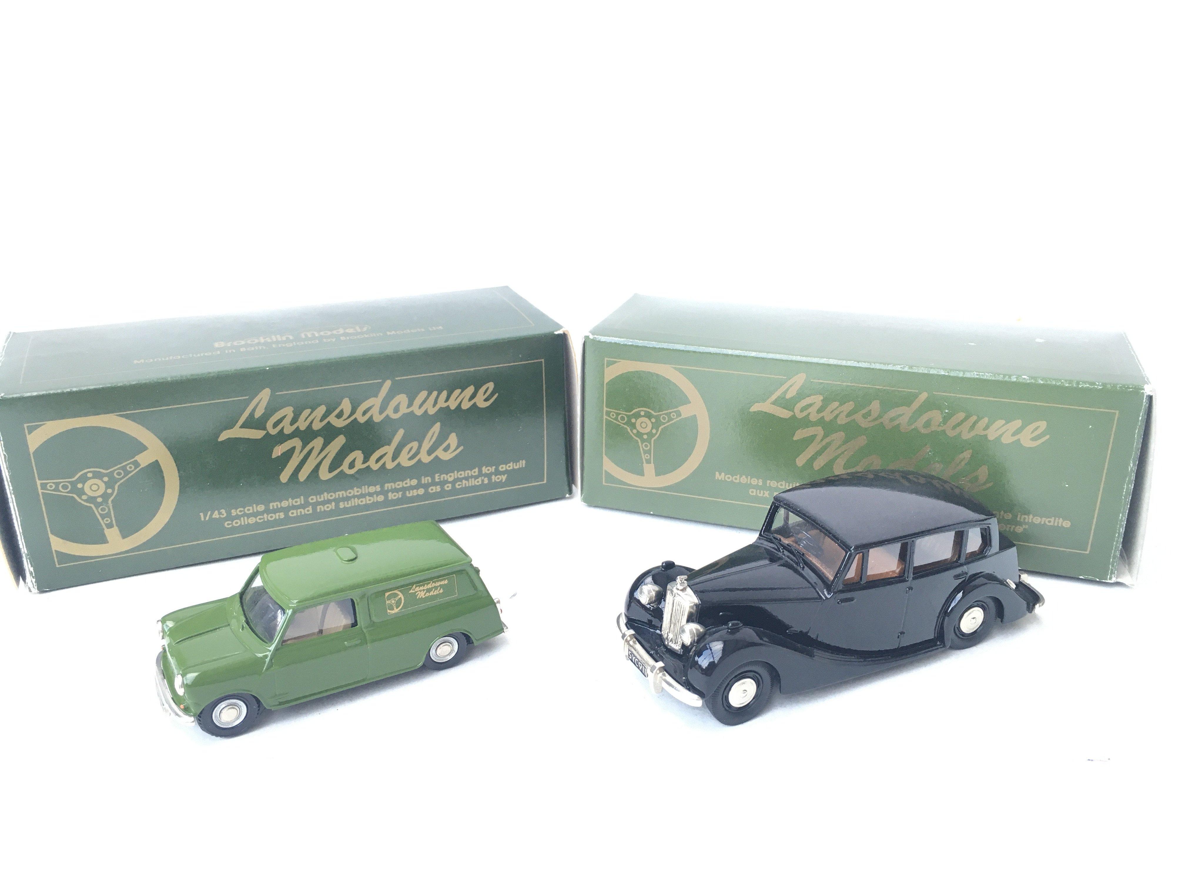 2 X Lansdowne Models including LD4 1962 Morris Min