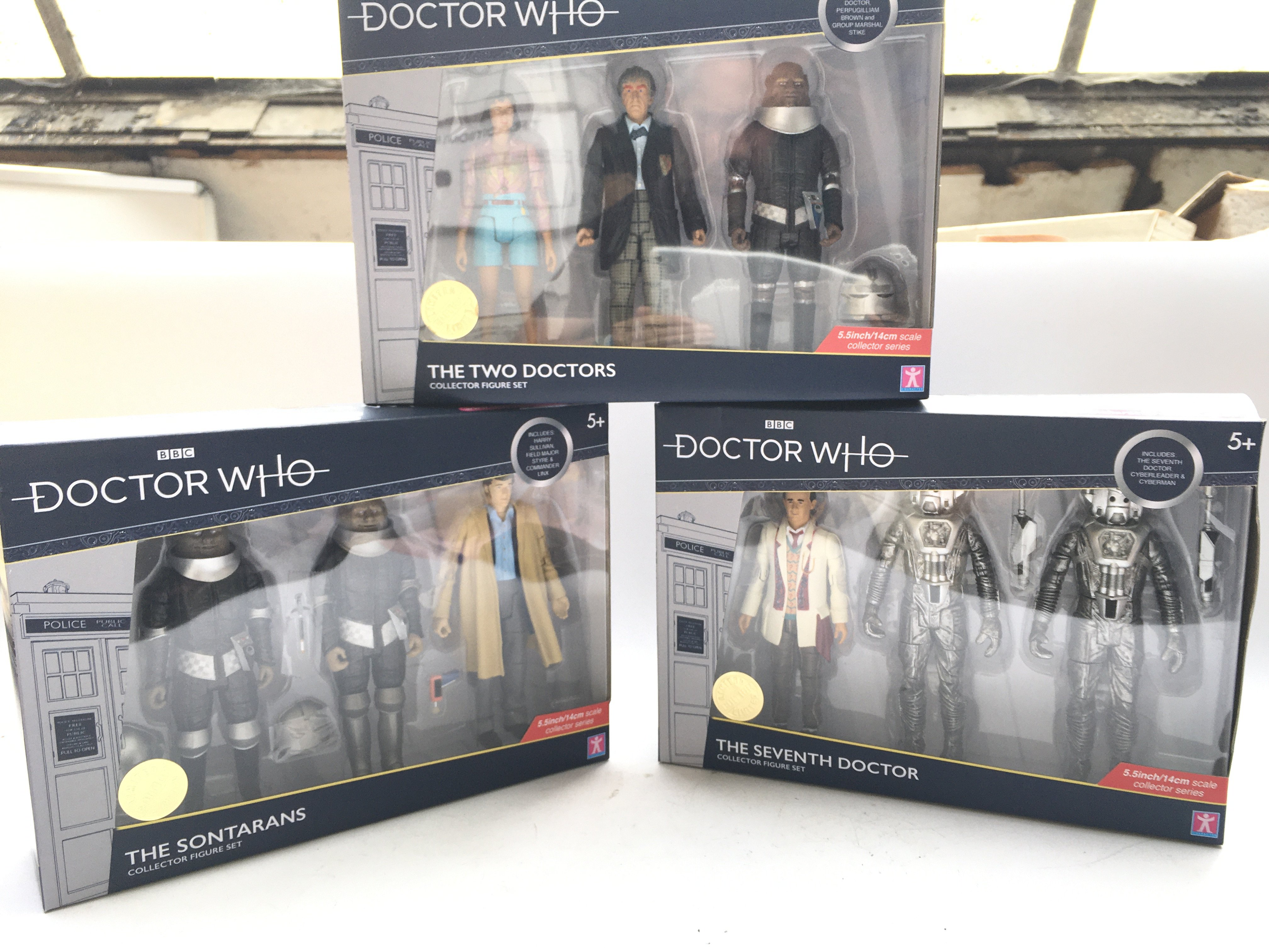 3 X Doctor Who Collector Figure Sets including The