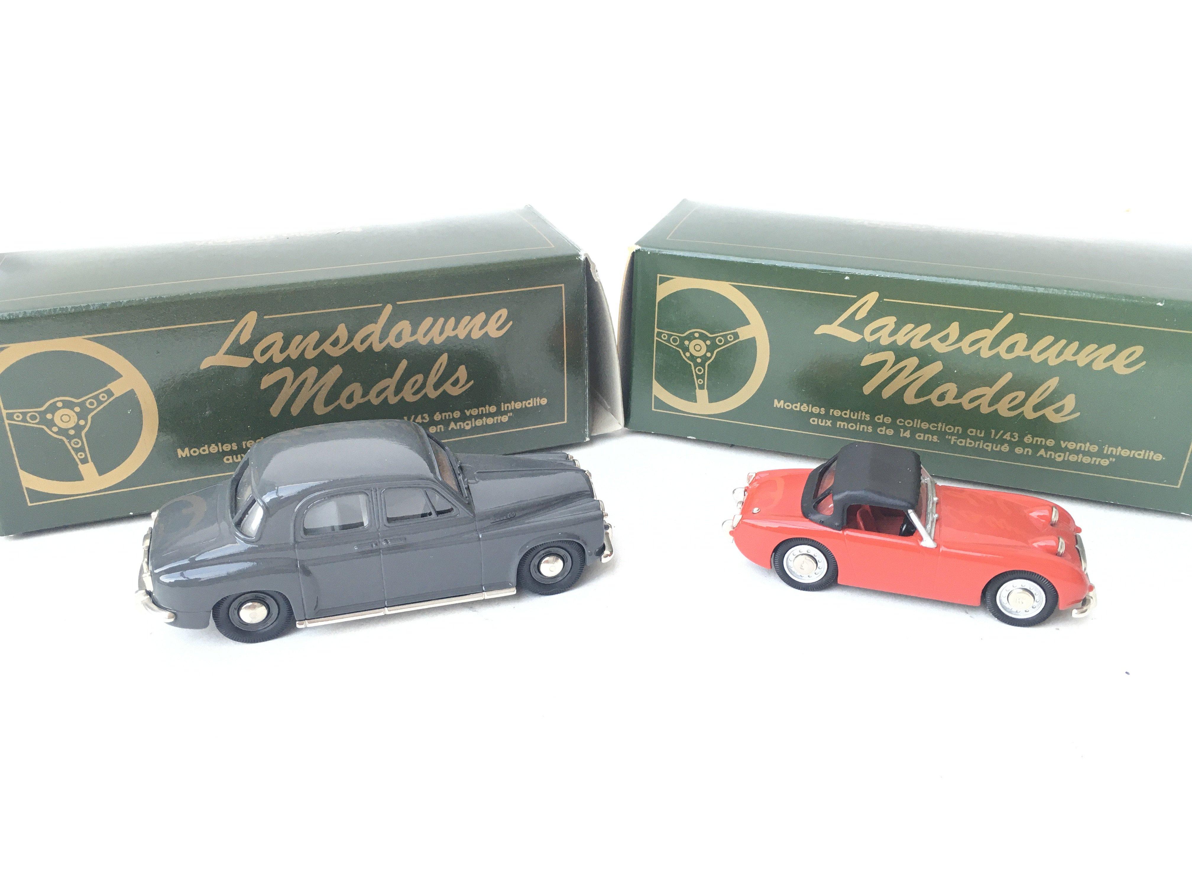 2 X Lansdowne Models including LDM.5 1957 Rover P4