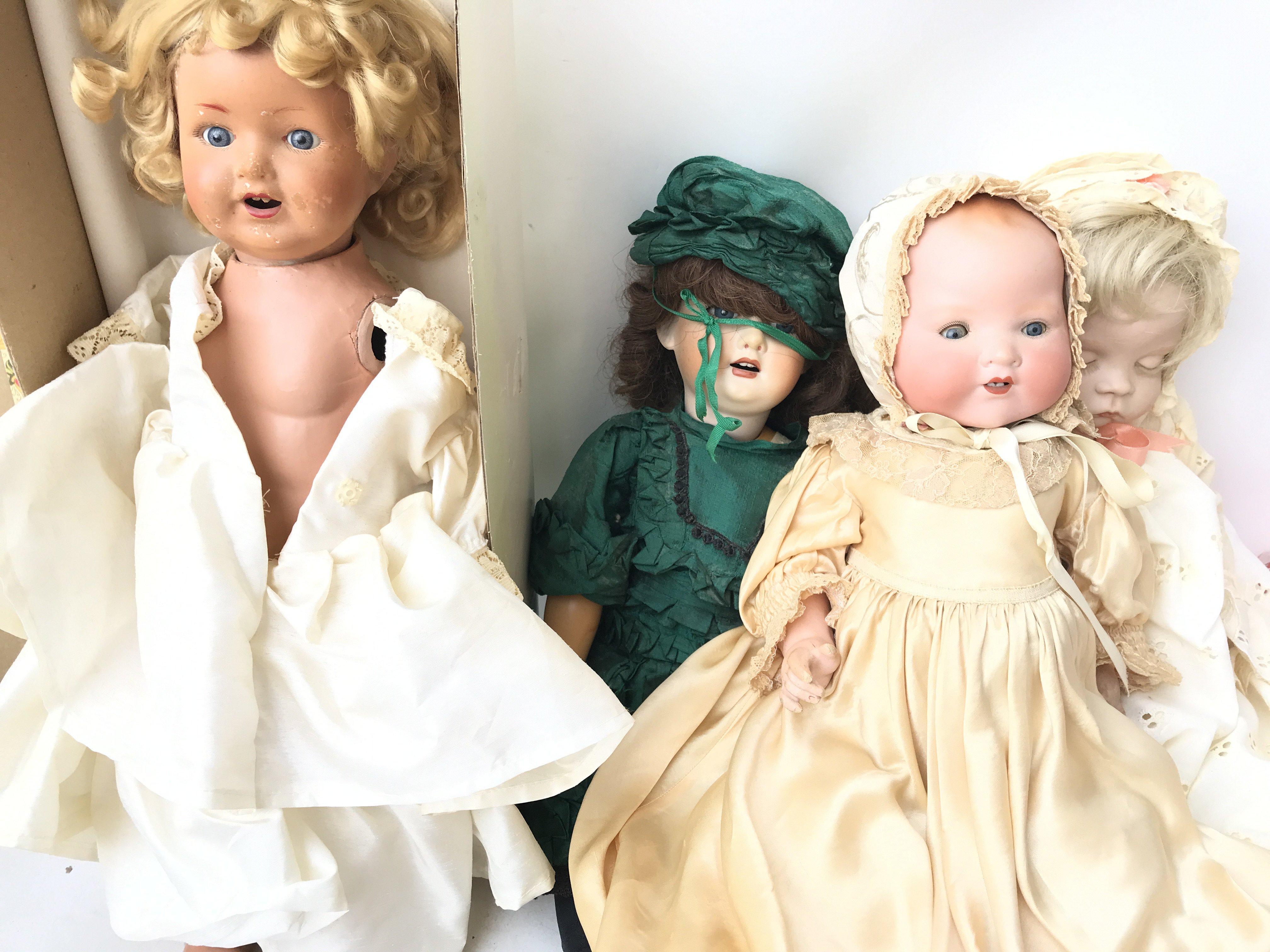 A A and M Doll in a Child Gown and 3 Others A/F. - Image 2 of 2