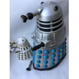 2 X Doctor Who Ceramic Daleks. A/F.approx height 33 Cm and 55 Cm.(2)