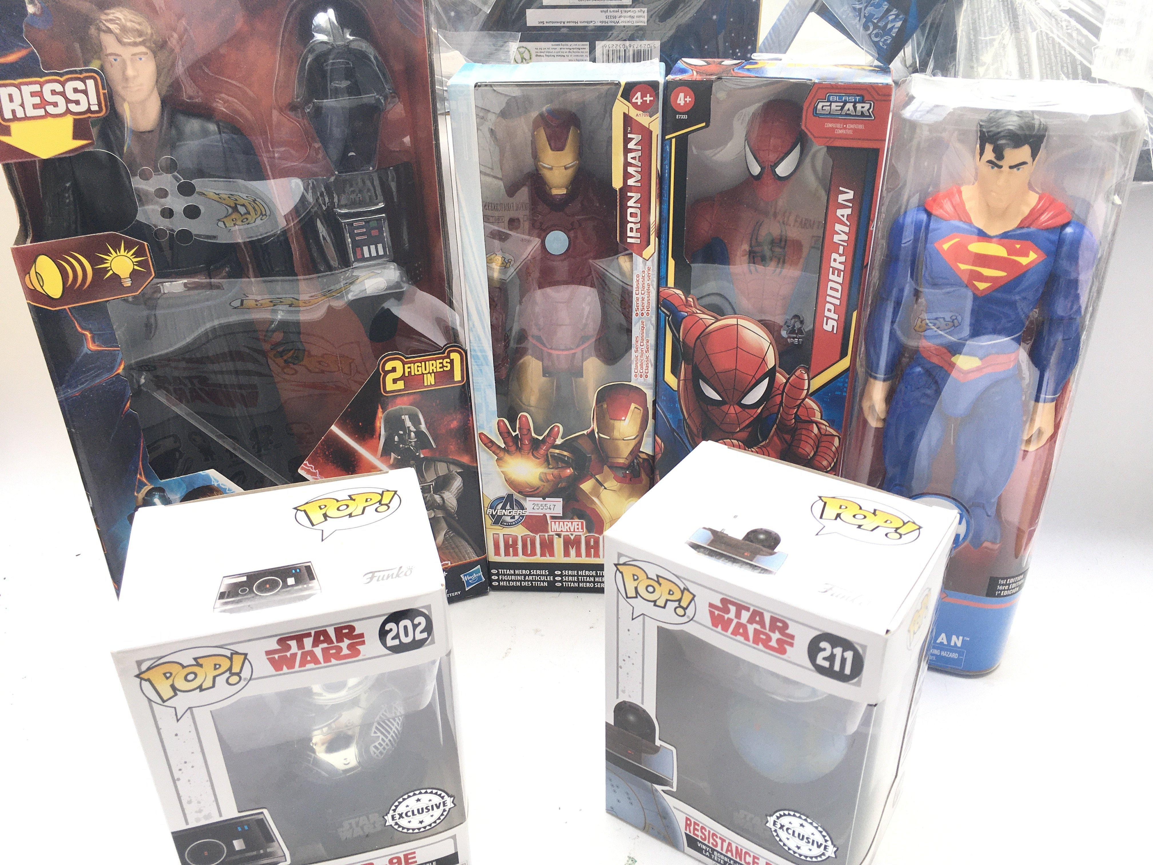 """A Collection of Marvel/ DC 12"""" Figures. A Talkin"""