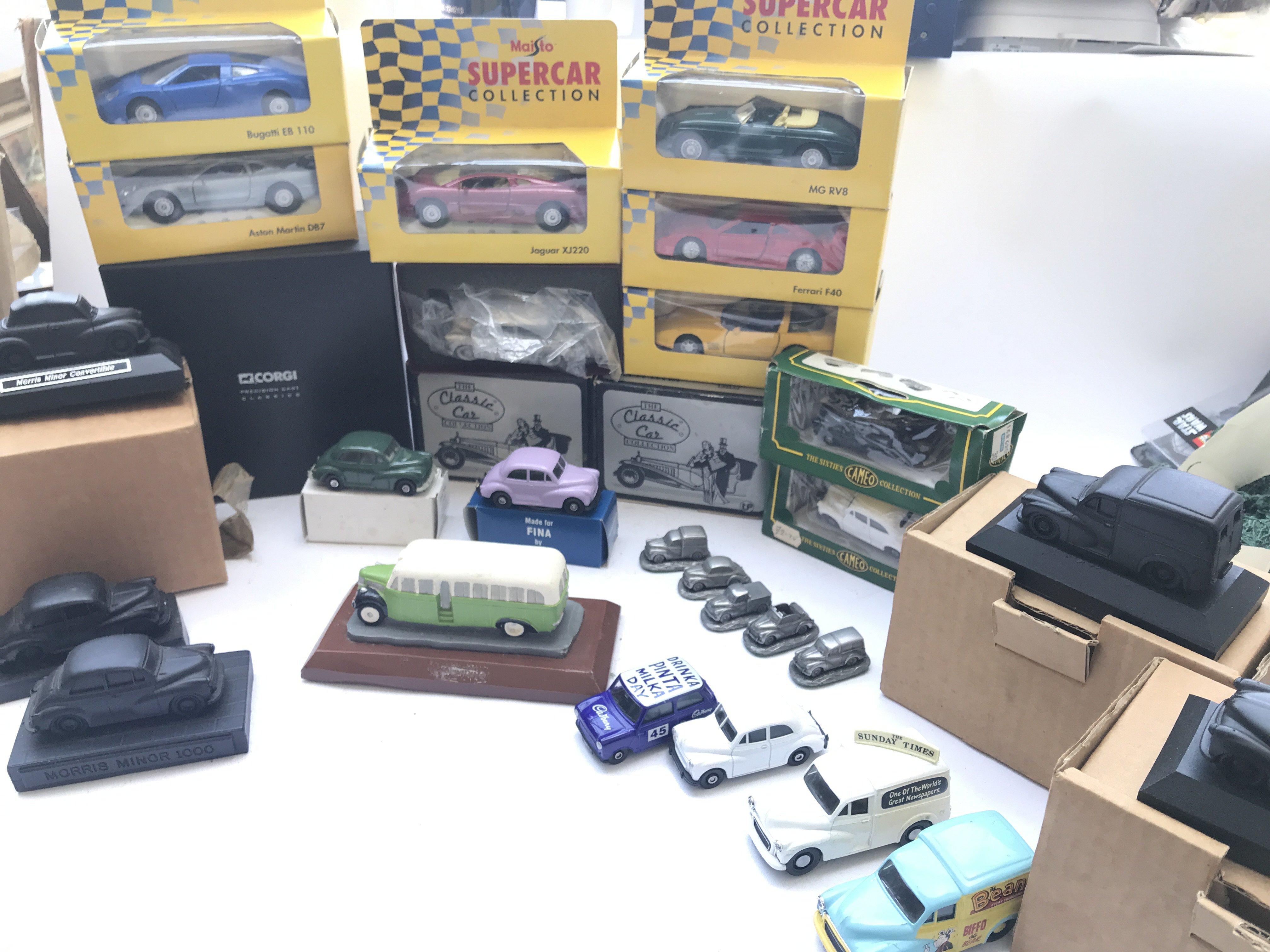 A Box Containing A Collection of Morris Minor Coal
