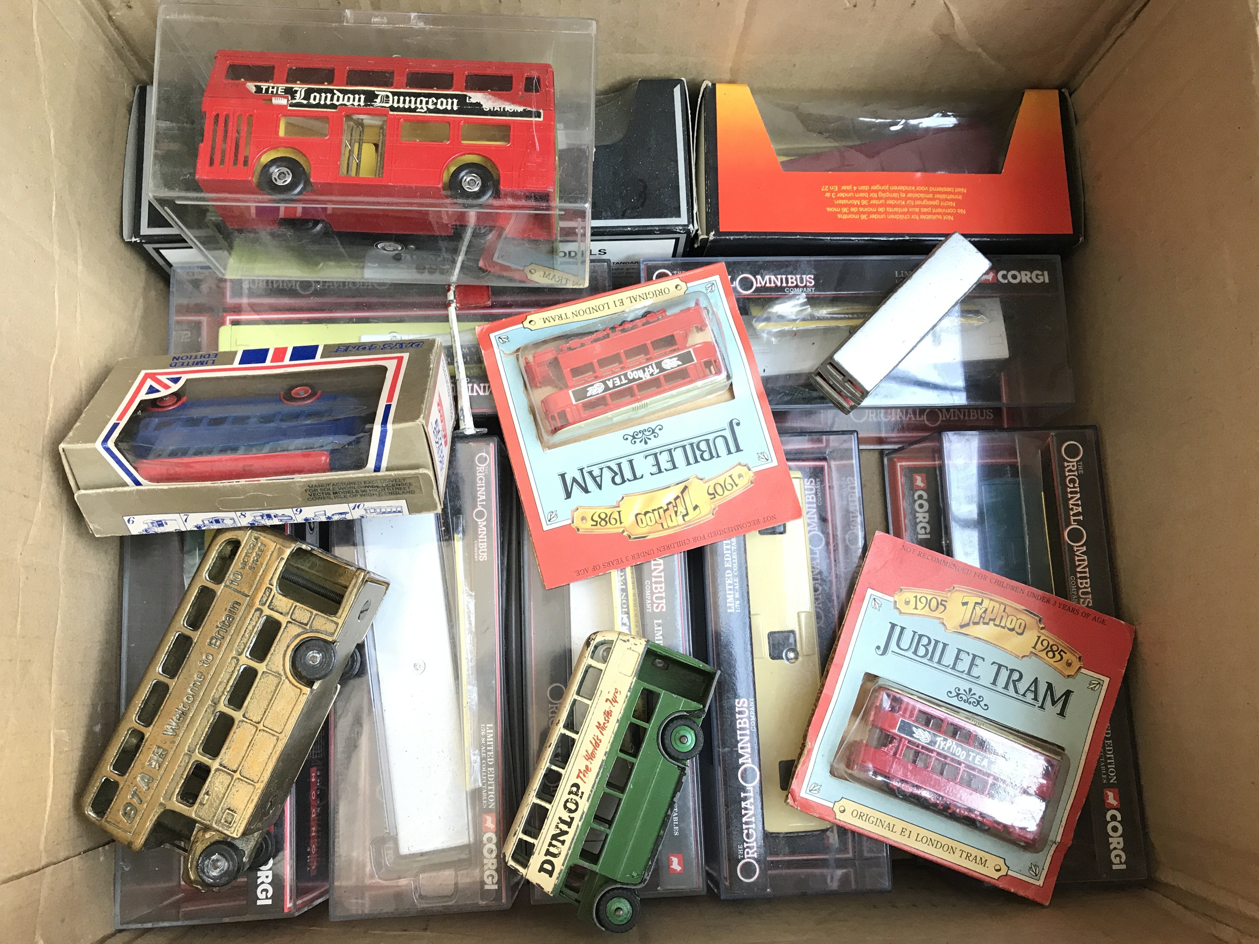 A Box Containing a Collection of Busses including - Image 2 of 2