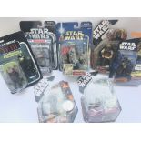 7 x Star Wars Carded Figures including Ephant Mon.