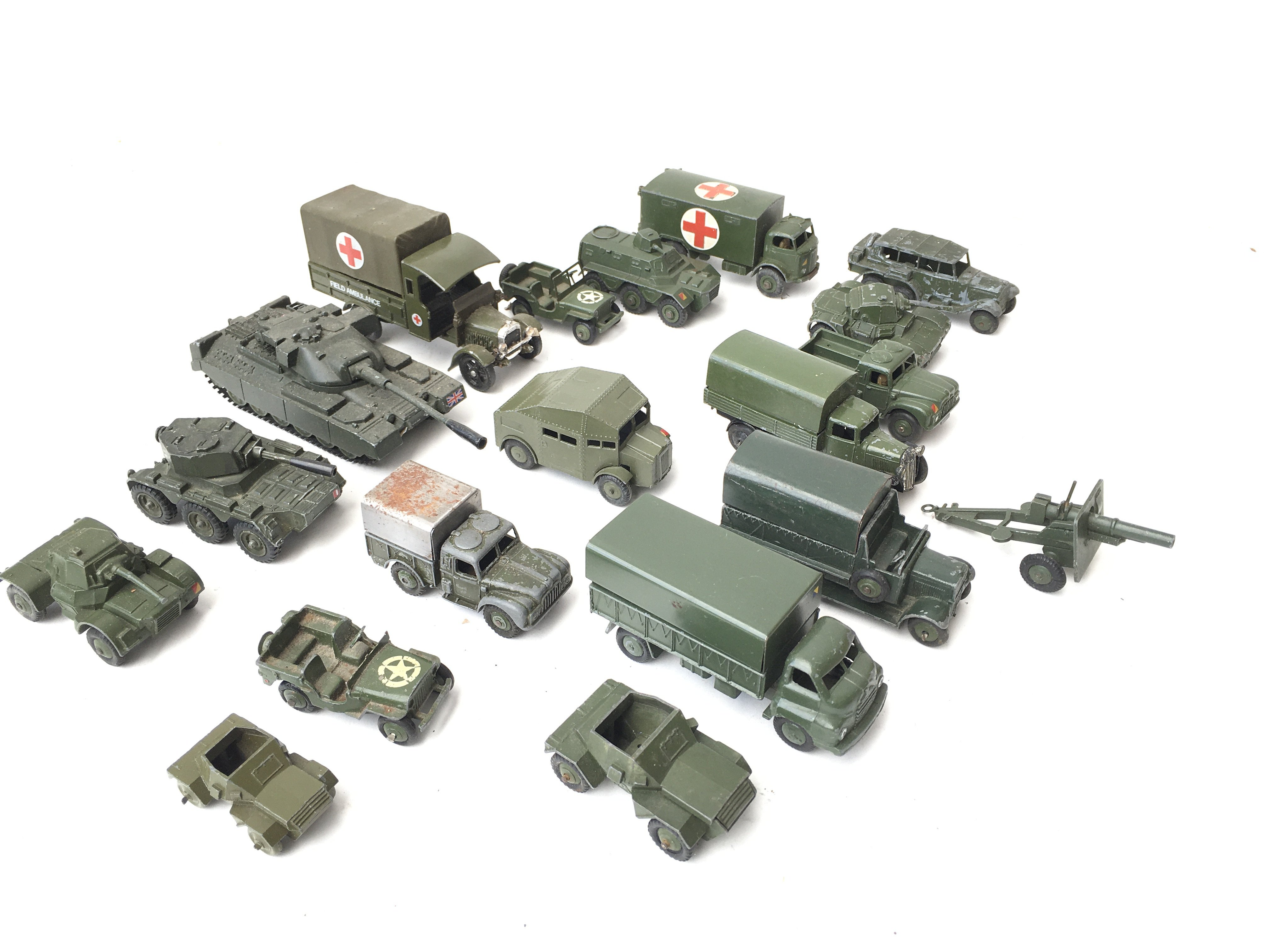 A Collection of Military Die Cast Vehicles includi