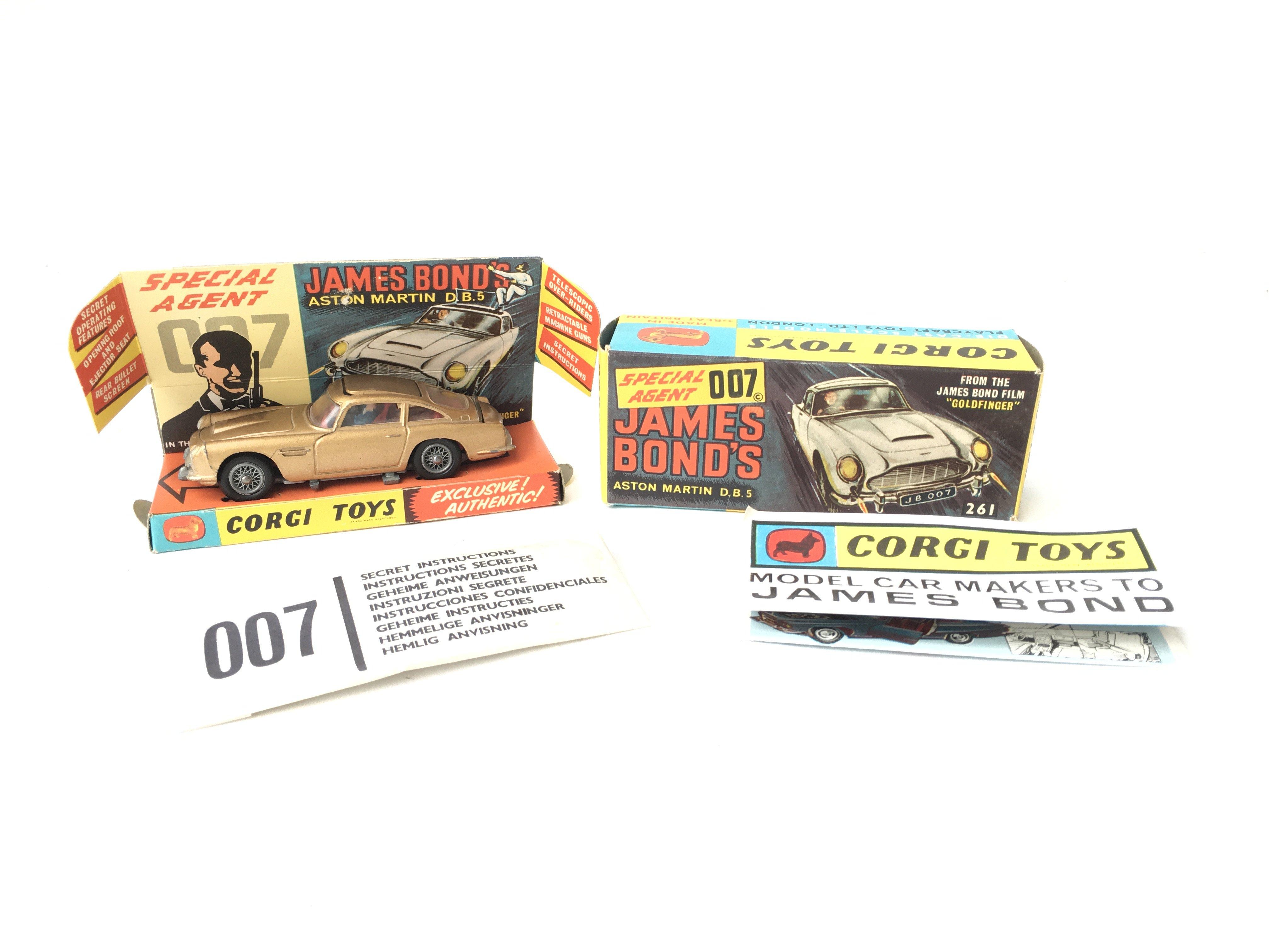A Boxed Corgi James Bond Aston Martin D.B.5 #261.