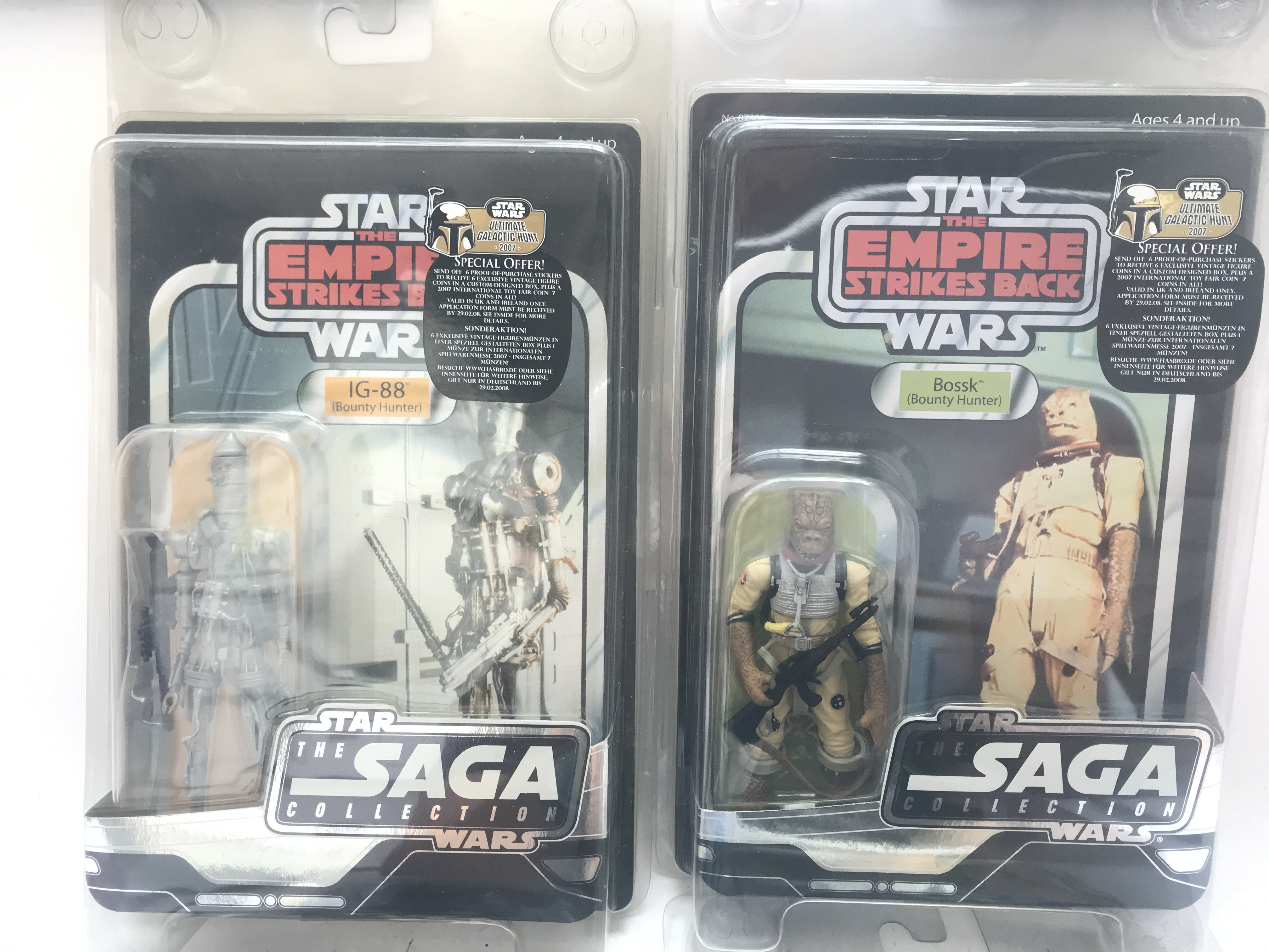 4 X Star Wars Carded Figures including 3 x Saga Co - Image 2 of 3