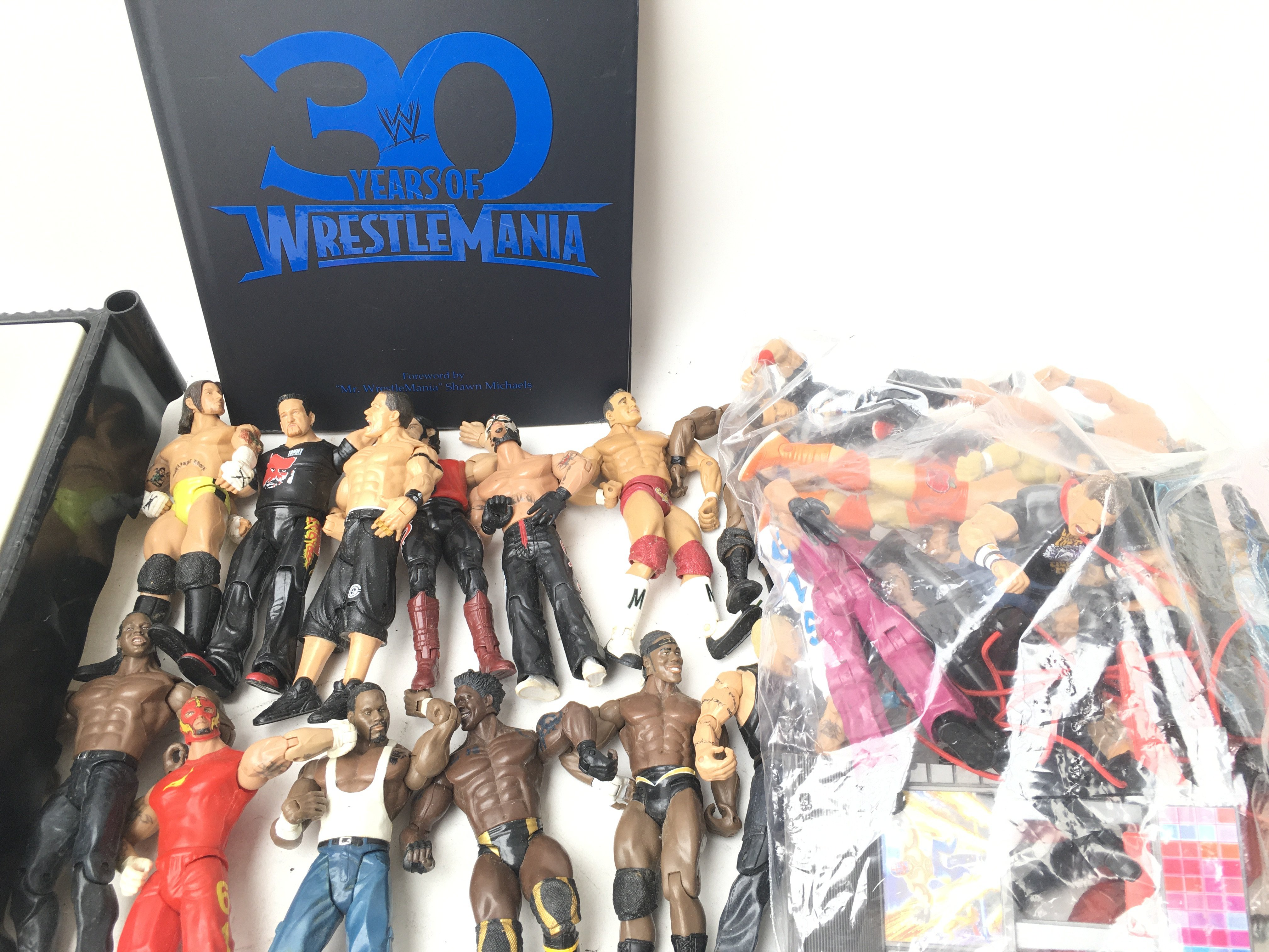 A Collection Of WWE Figures, Ring and Book. - Image 2 of 2