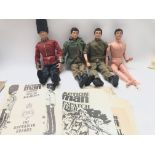A Collection of 4 Vintage Action men including a G