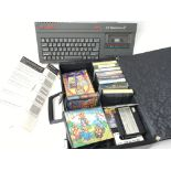 A Sinclair ZX Spectrum +2 with games.
