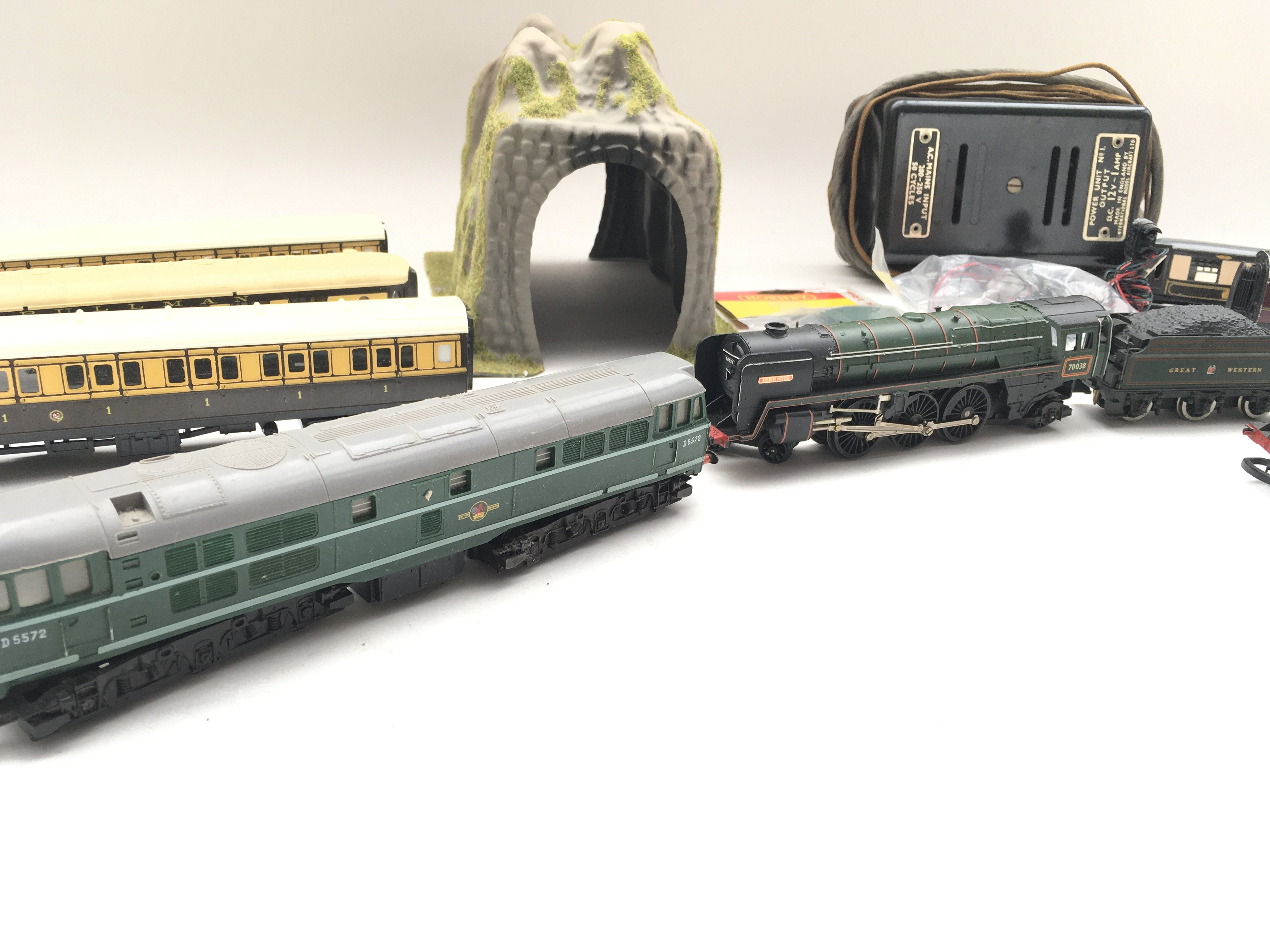 Collection of trains - coaches - controller - colour light signal and switch. - Image 4 of 5