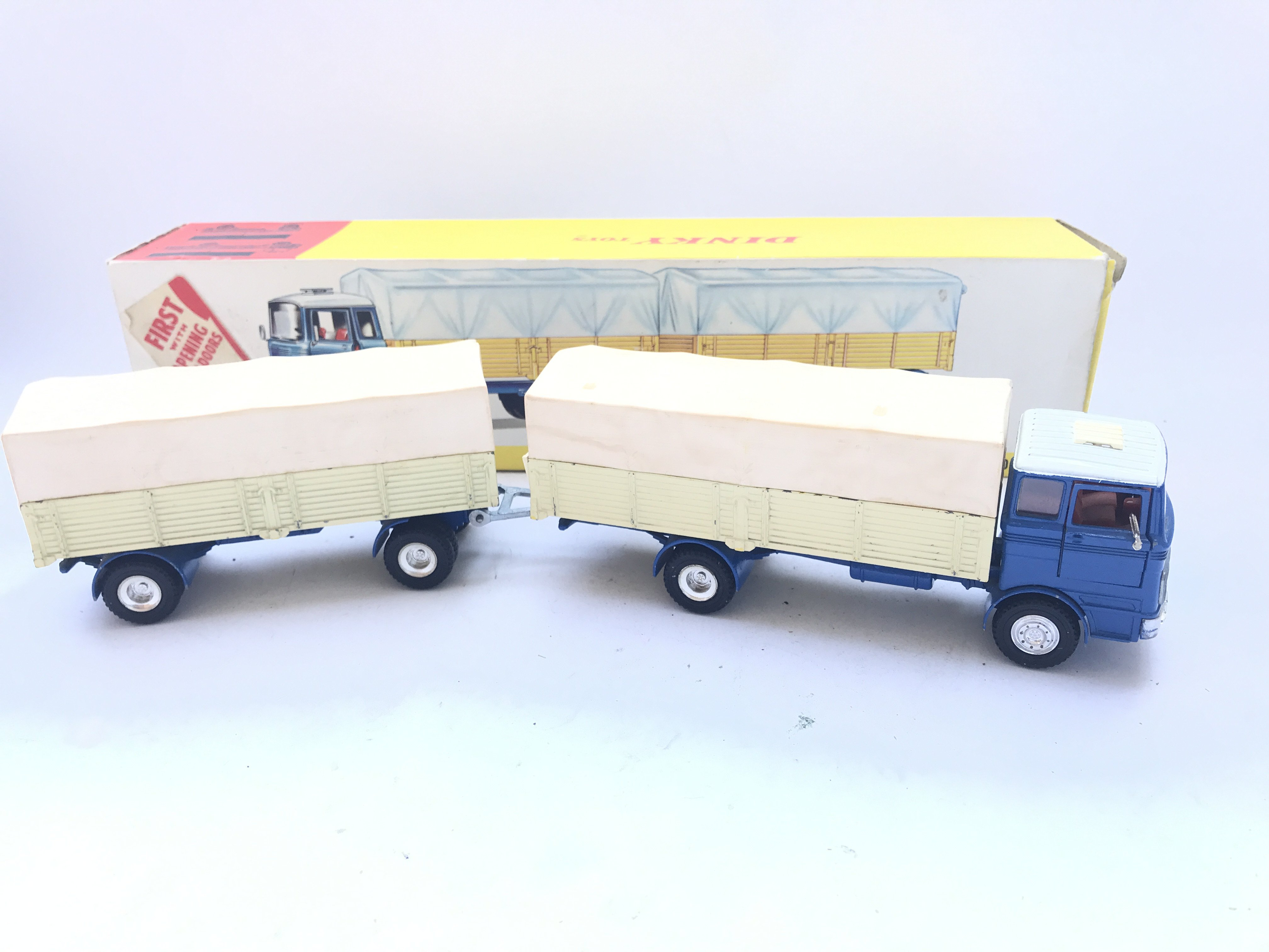 A Boxed Dinky Toys Mercedes-Benz Truck and Trailer