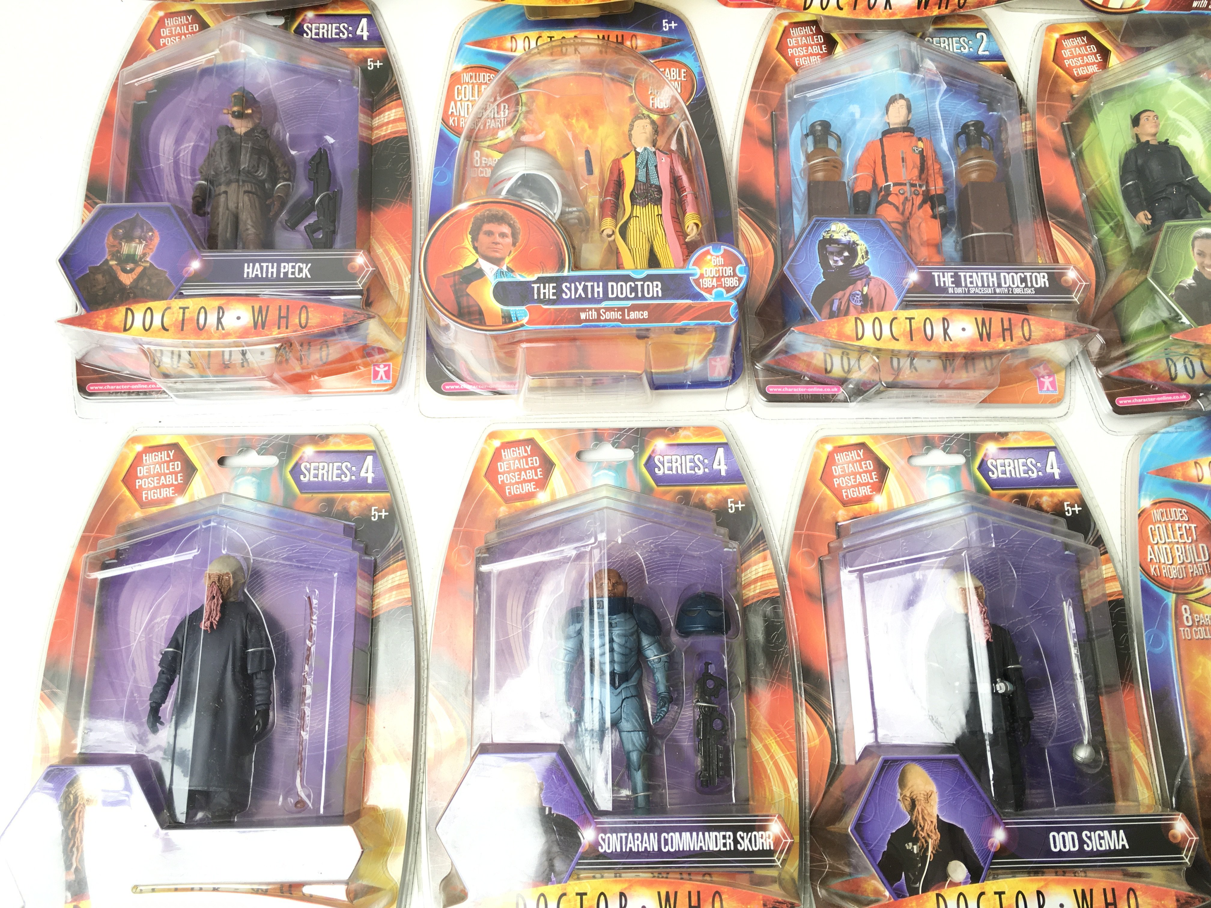 A Collection of Carded Doctor Who Figures.includin