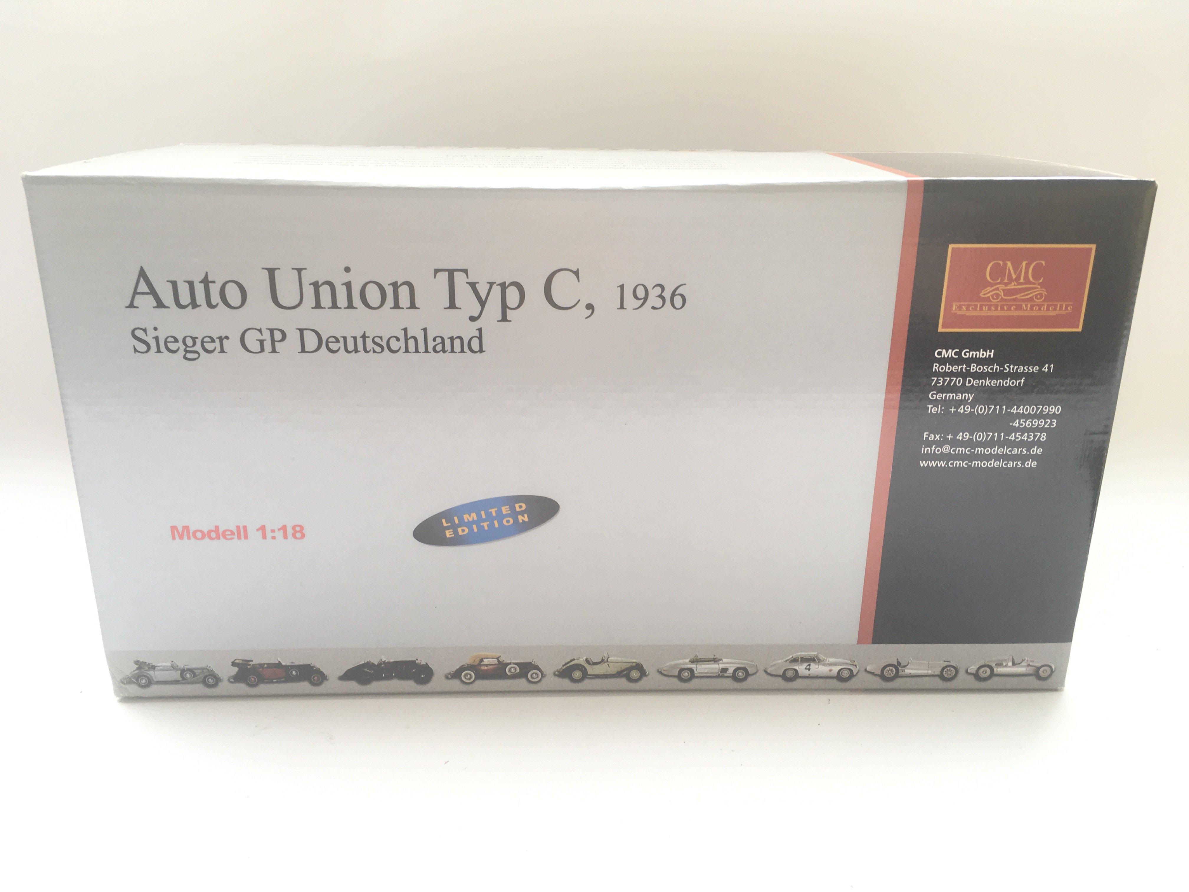 A CMC Exclusive Models Auto Union Type C Sieger GP - Image 3 of 3