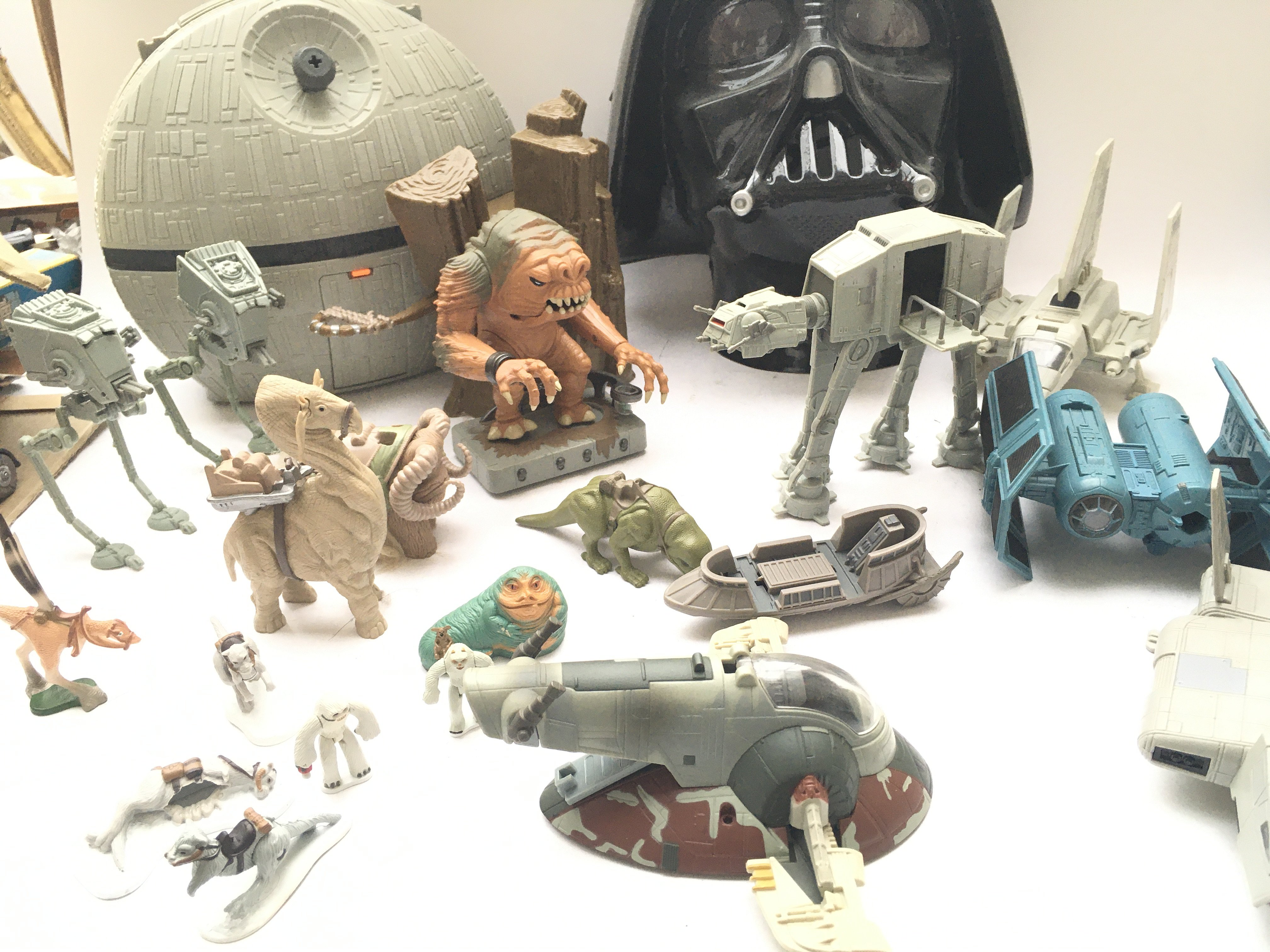 A Box Containing a Collection of Loose Star Wars A