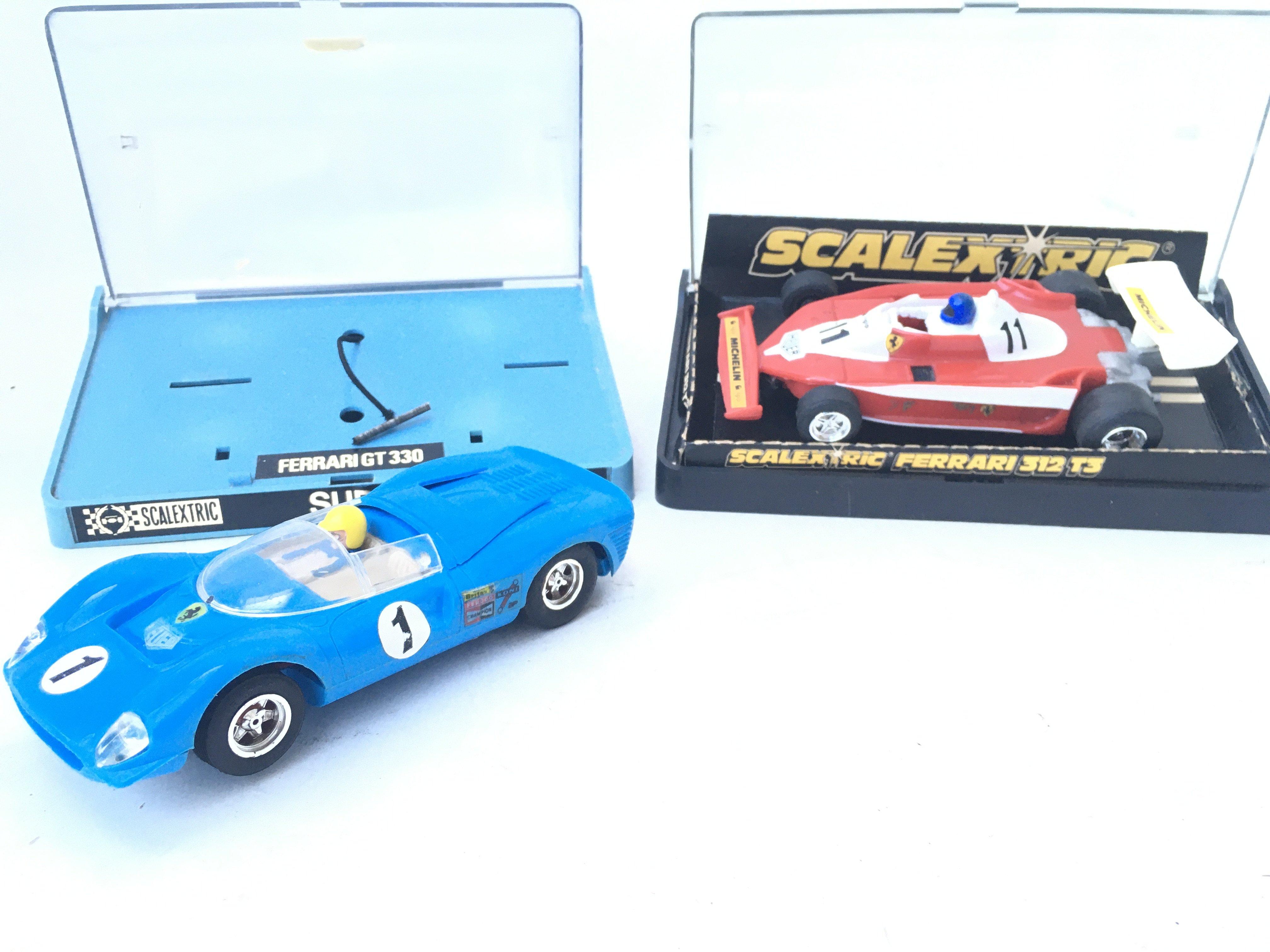 2 X Boxed Scalextric Ferrari GT 330 and Ferrari 312 T3 both boxed.